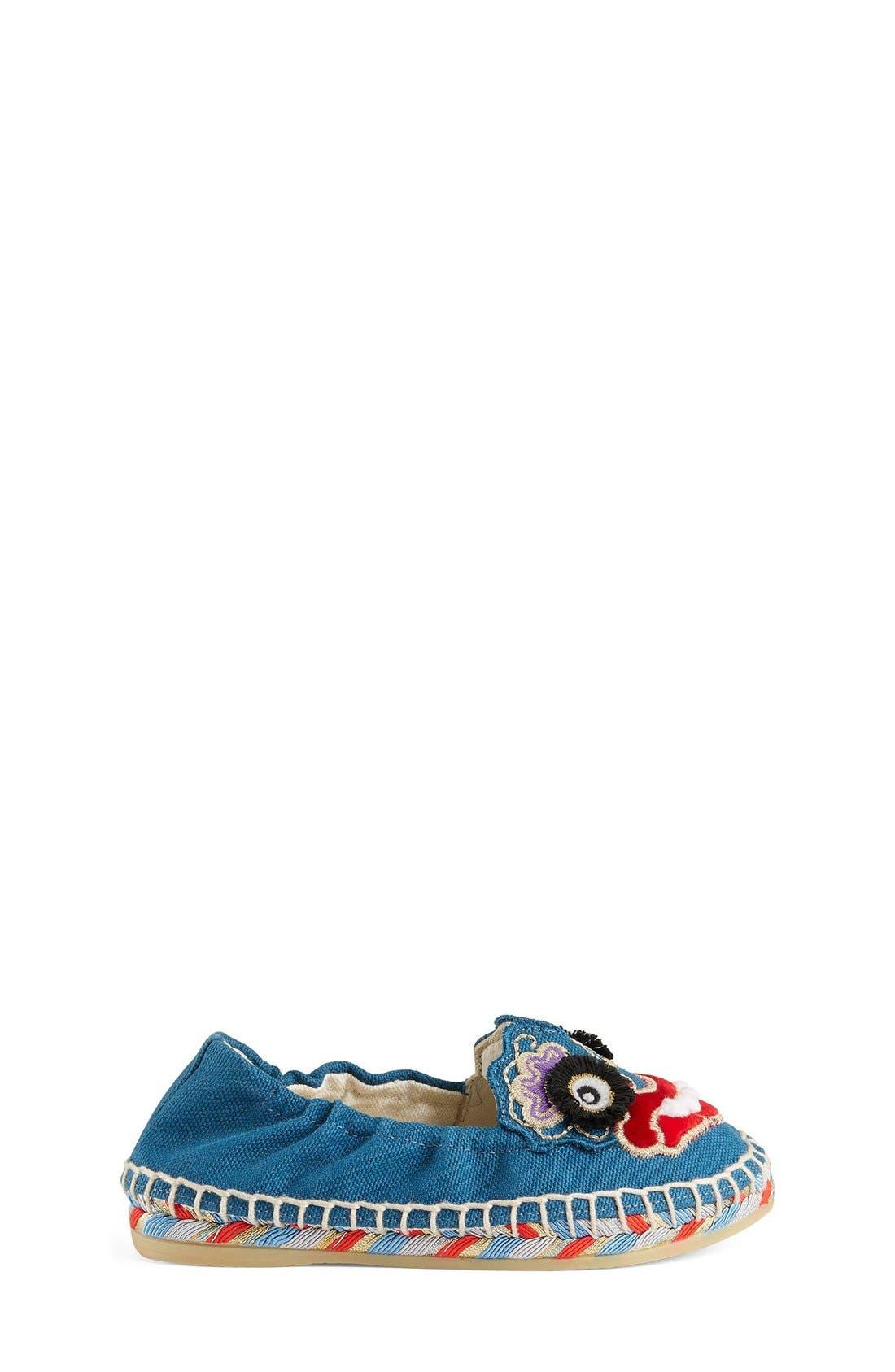Wen Espadrille Flat,                             Alternate thumbnail 5, color,                             Riviera Blue/ Red