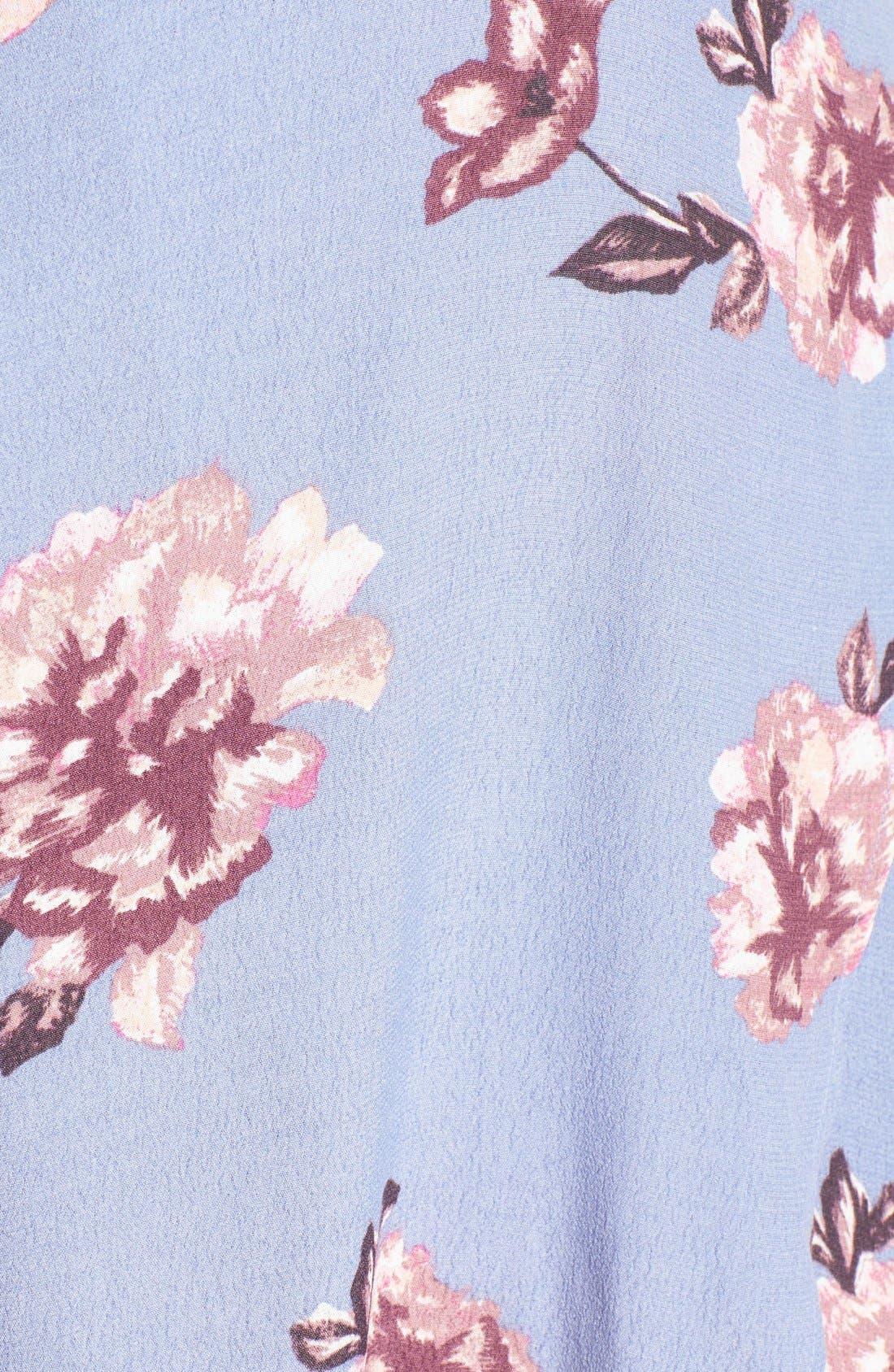 Alternate Image 6  - ASTR Selma Floral Print Wrap Dress