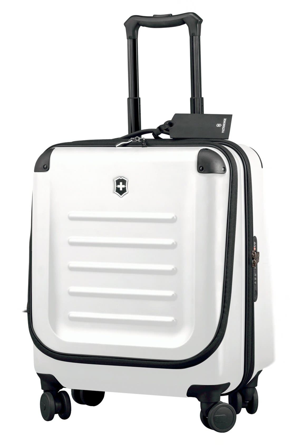Spectra 2.0 Hard Sided Rolling 22-Inch Carry-On,                             Main thumbnail 1, color,                             White