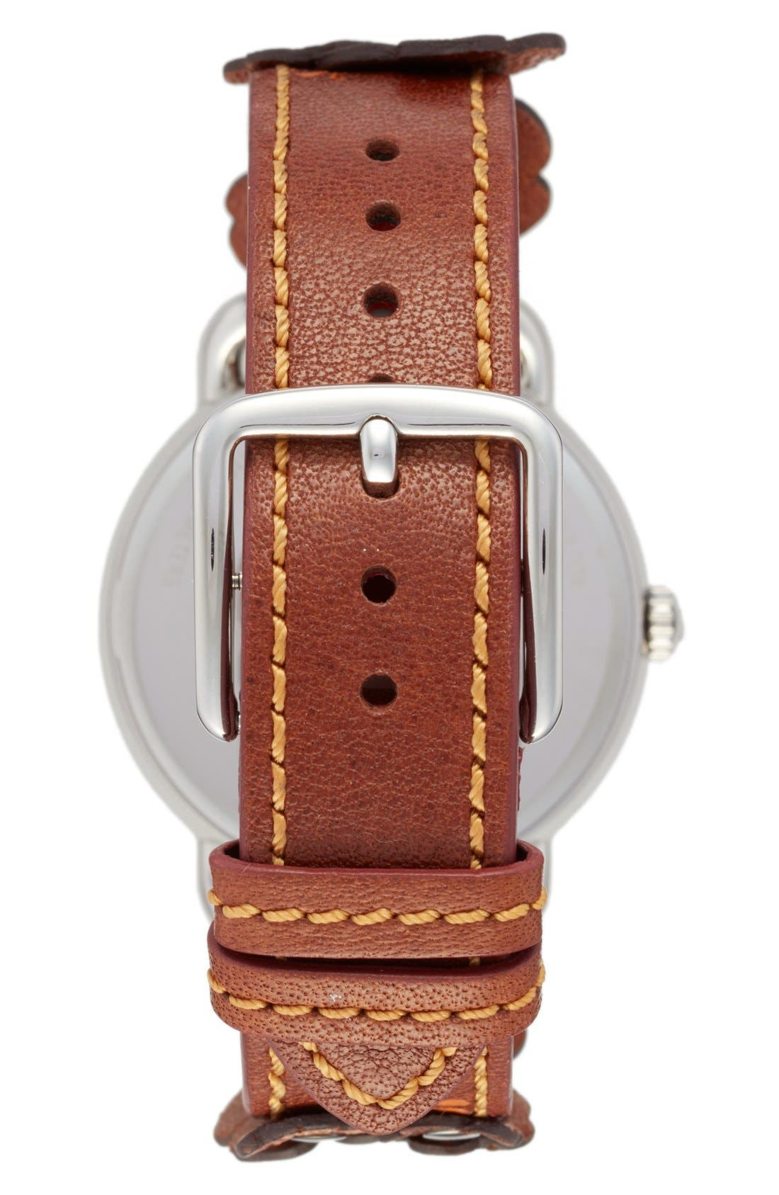Delancey Leather Strap Watch, 36mm,                             Alternate thumbnail 2, color,                             Brown/ White