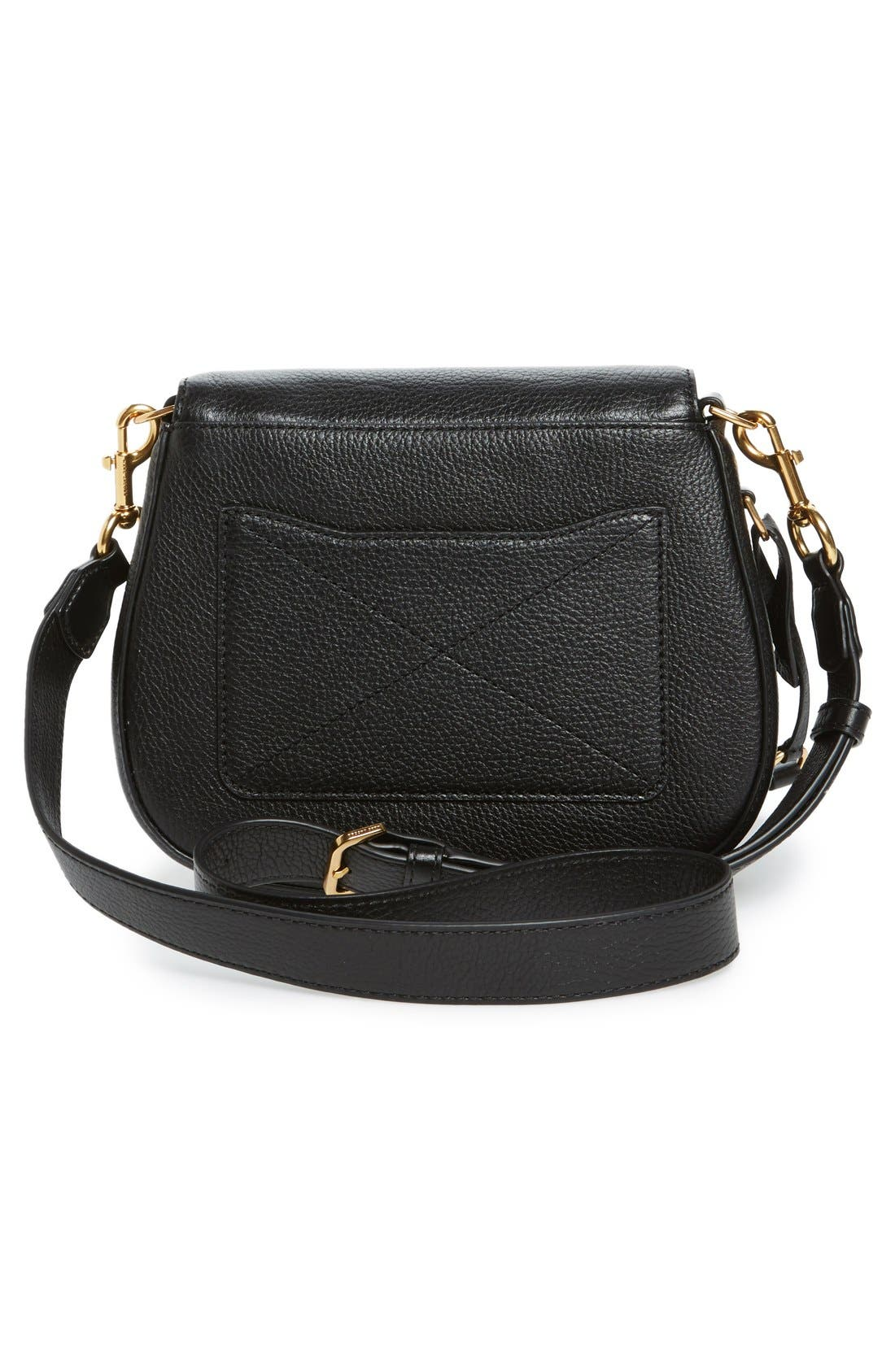 Alternate Image 3  - MARC JACOBS Small Recruit Nomad Pebbled Leather Crossbody Bag