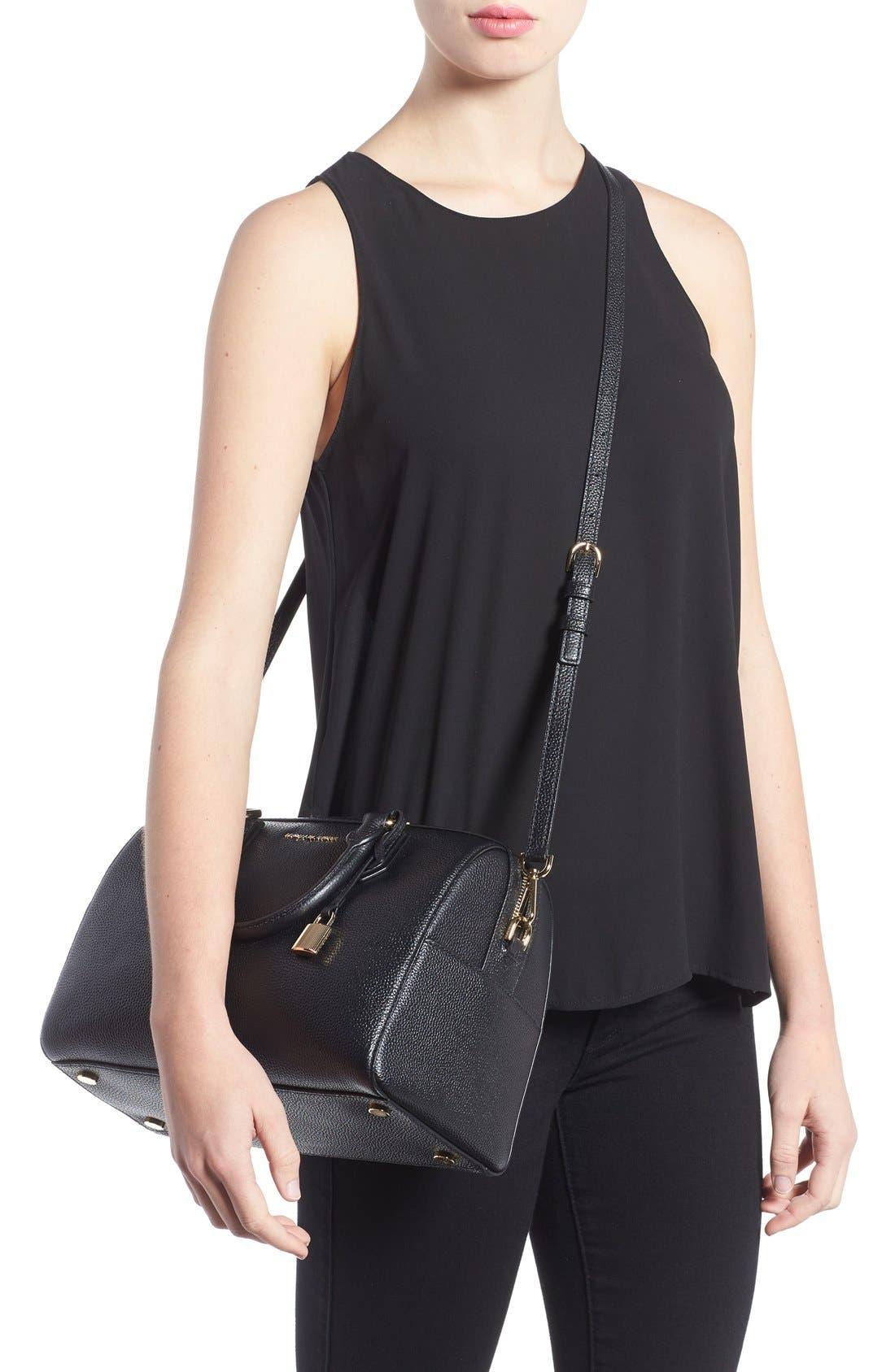 Medium Mercer Duffel Bag,                             Alternate thumbnail 2, color,                             Black/ Gold