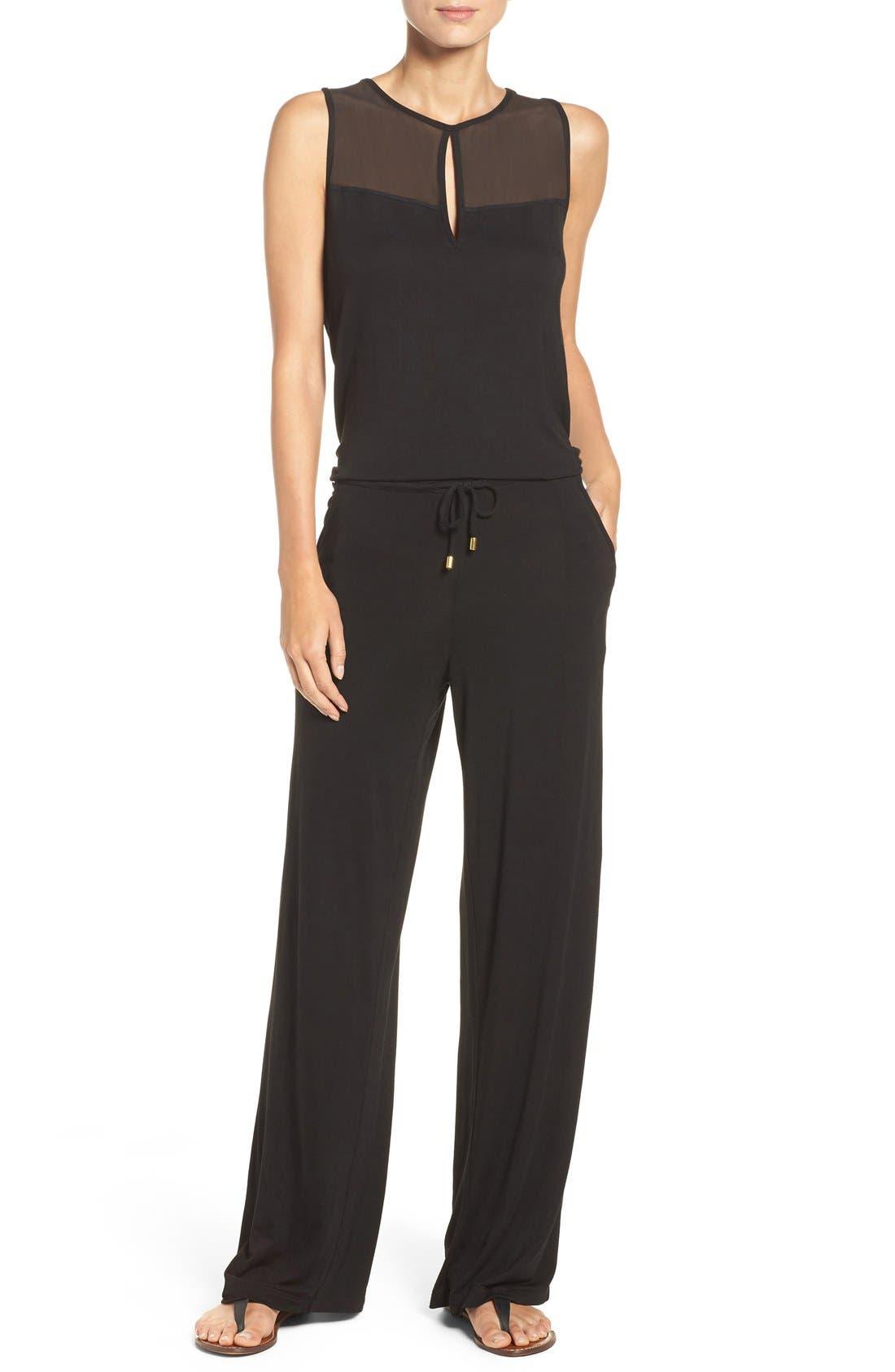 Cover-Up Jumpsuit,                         Main,                         color, Black