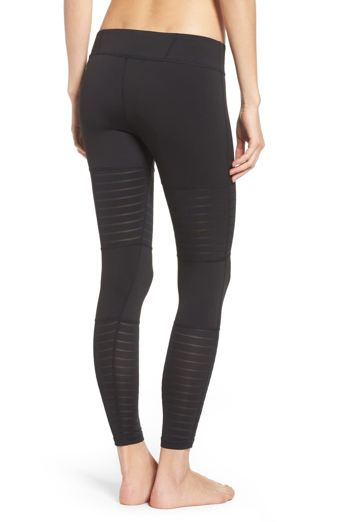 Alternate Image 2  - Reebok Dance Mesh Leggings