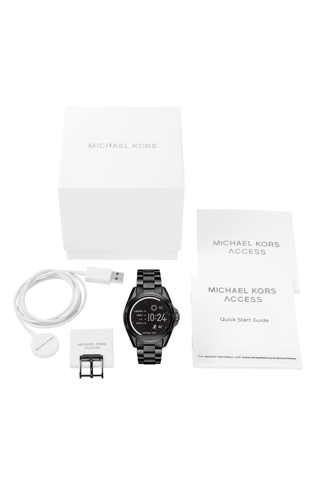 Alternate Image 5  - MICHAEL Michael Kors Bradshaw Access Bracelet Smart Watch, 45mm