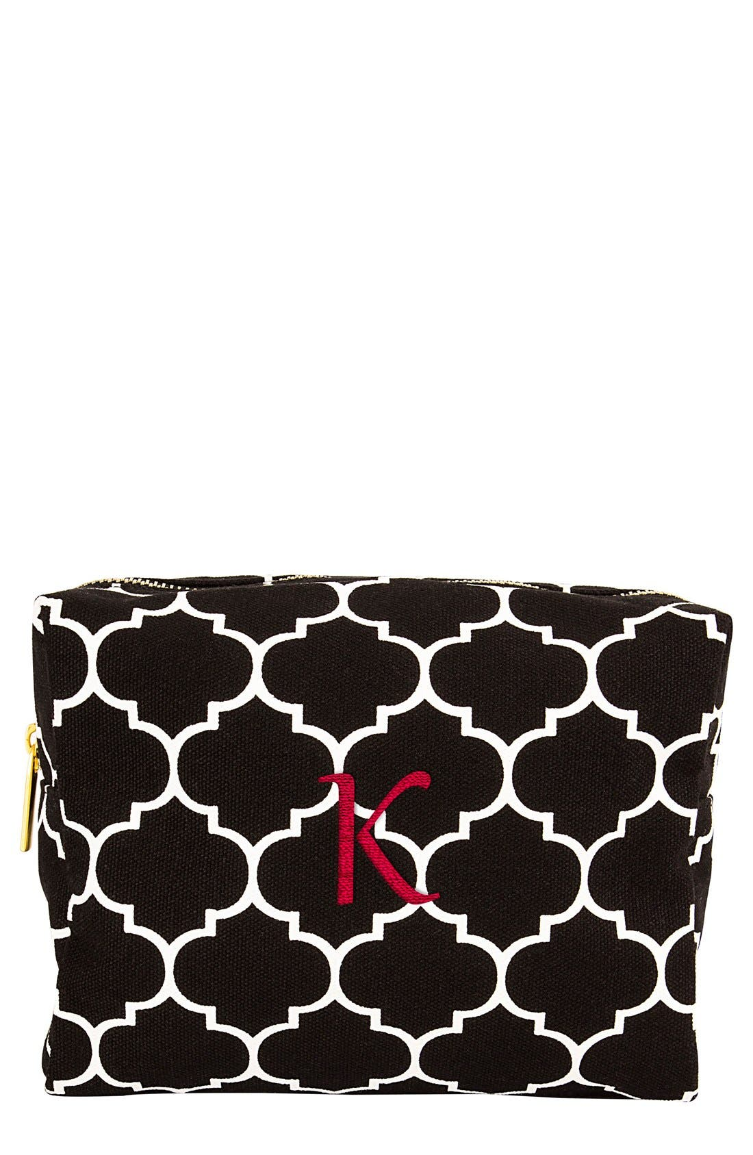 Monogram Cosmetics Bag,                         Main,                         color, Black-K