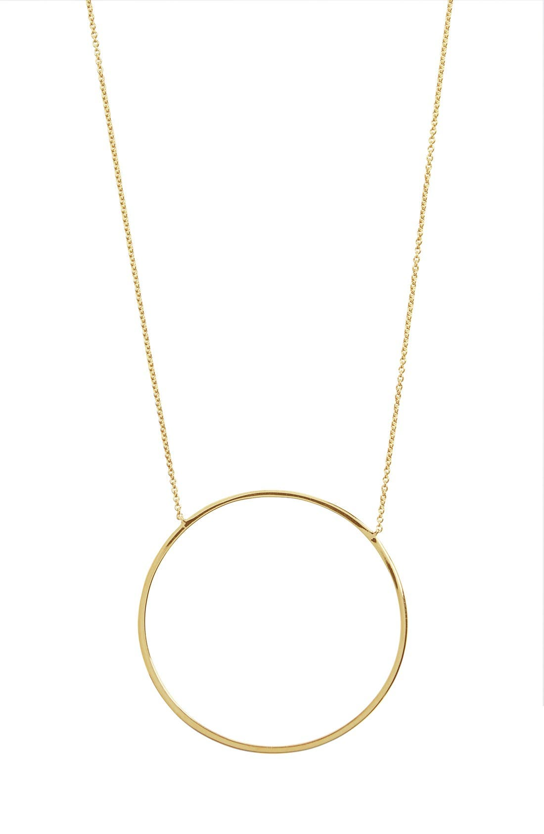 Pendant Necklace,                         Main,                         color, Yellow Gold