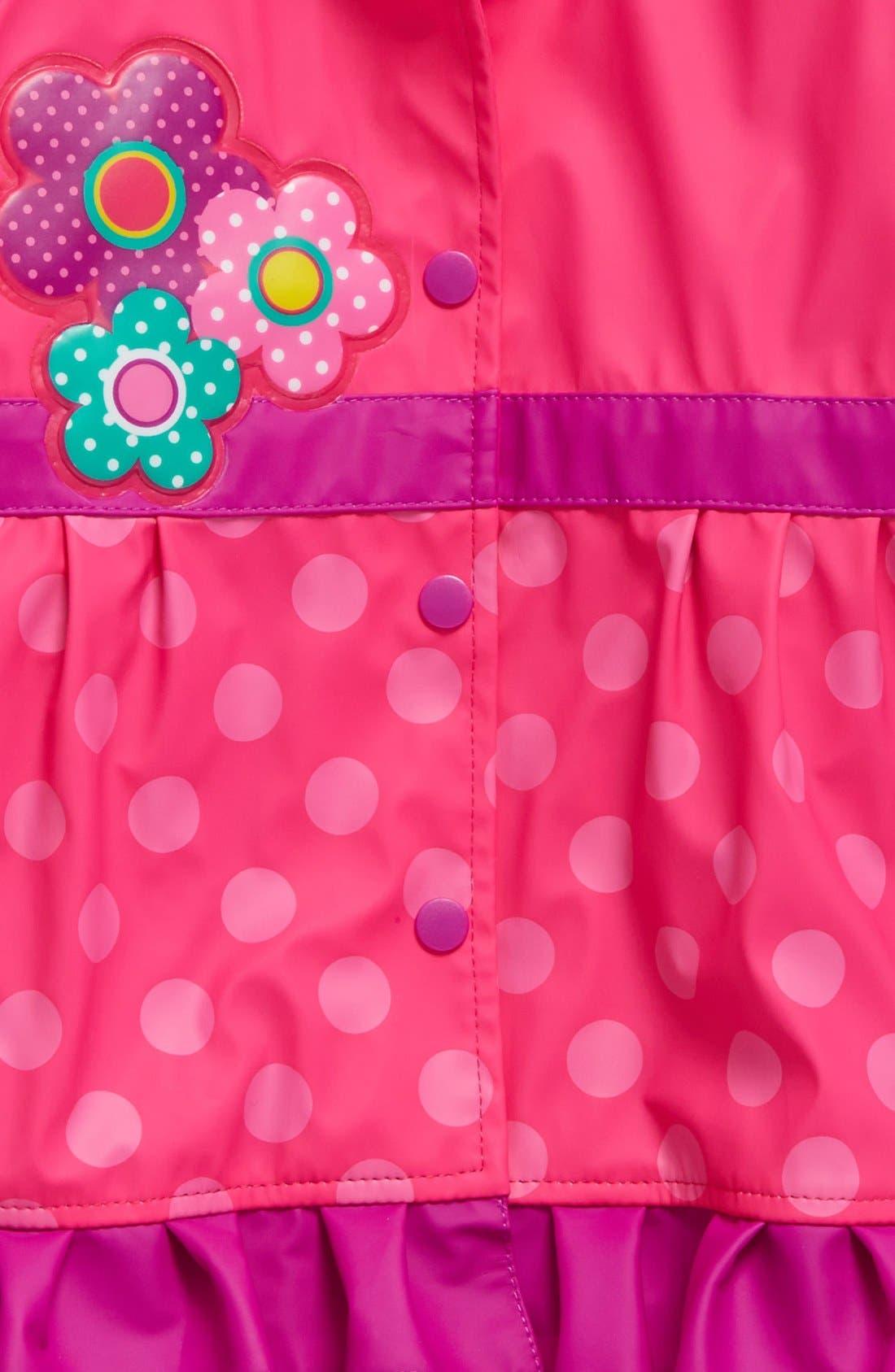 Alternate Image 3  - Western Chief Flower Cutie Raincoat (Toddler Girls & Little Girls)