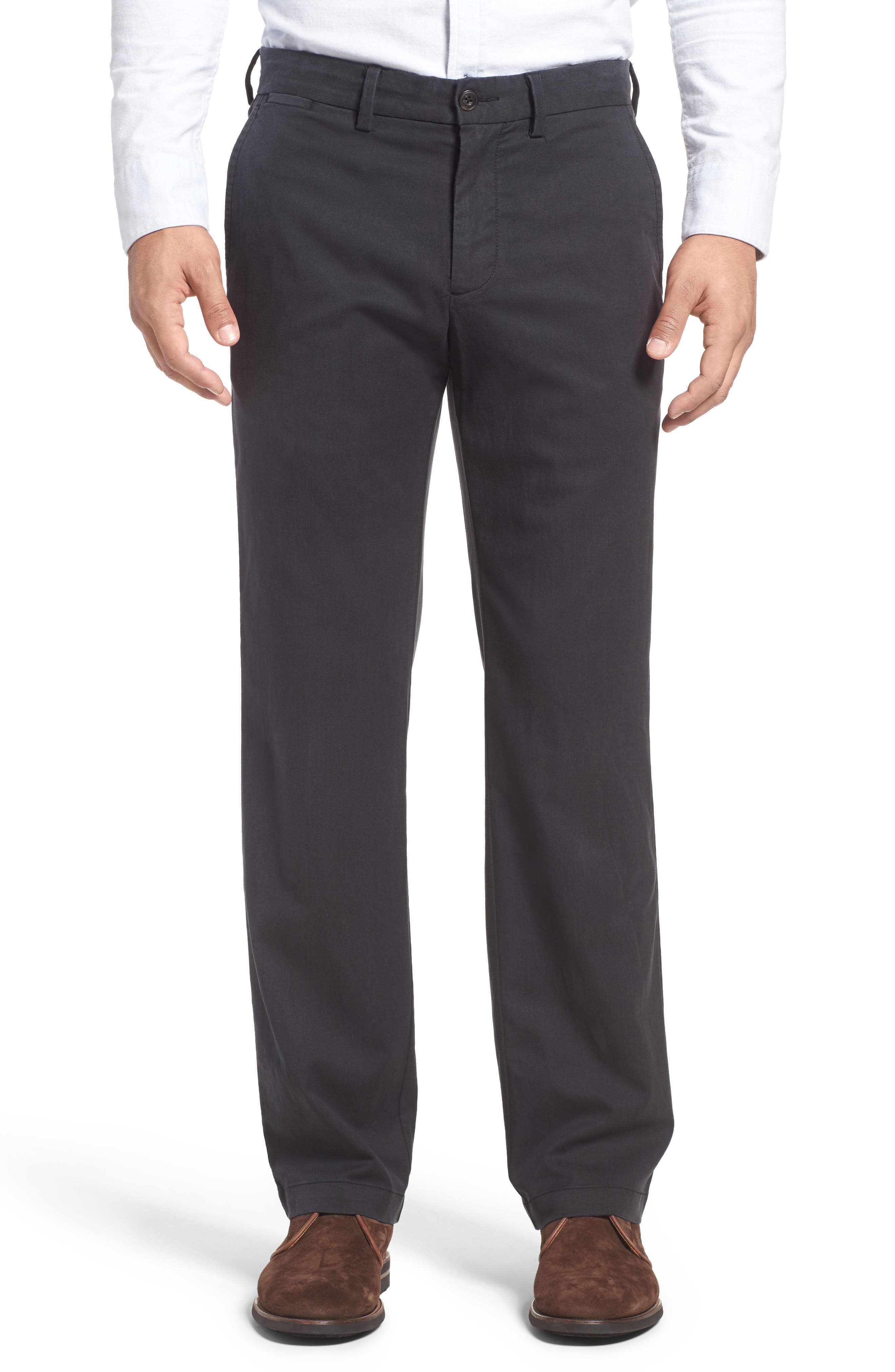 Offshore Flat Front Pants,                             Main thumbnail 1, color,                             Black