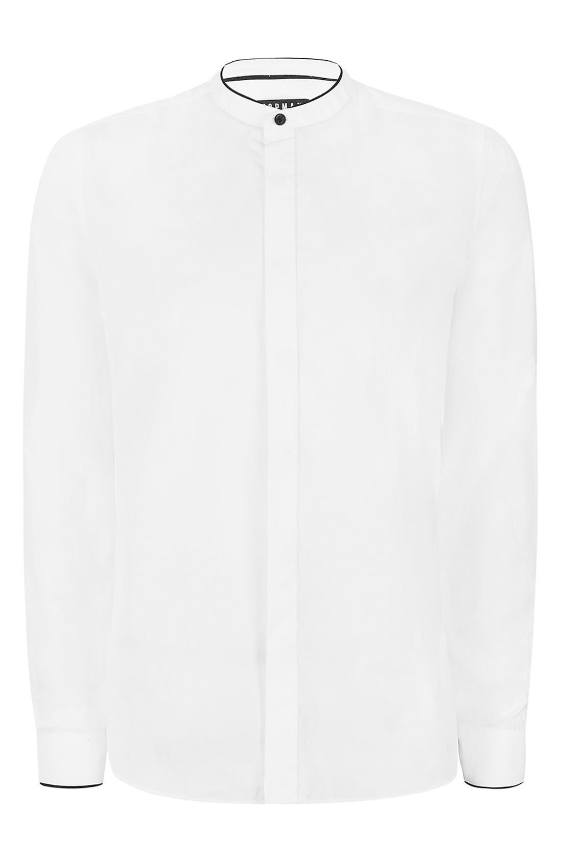Alternate Image 7  - Topman Slim Fit Band Collar Dress Shirt