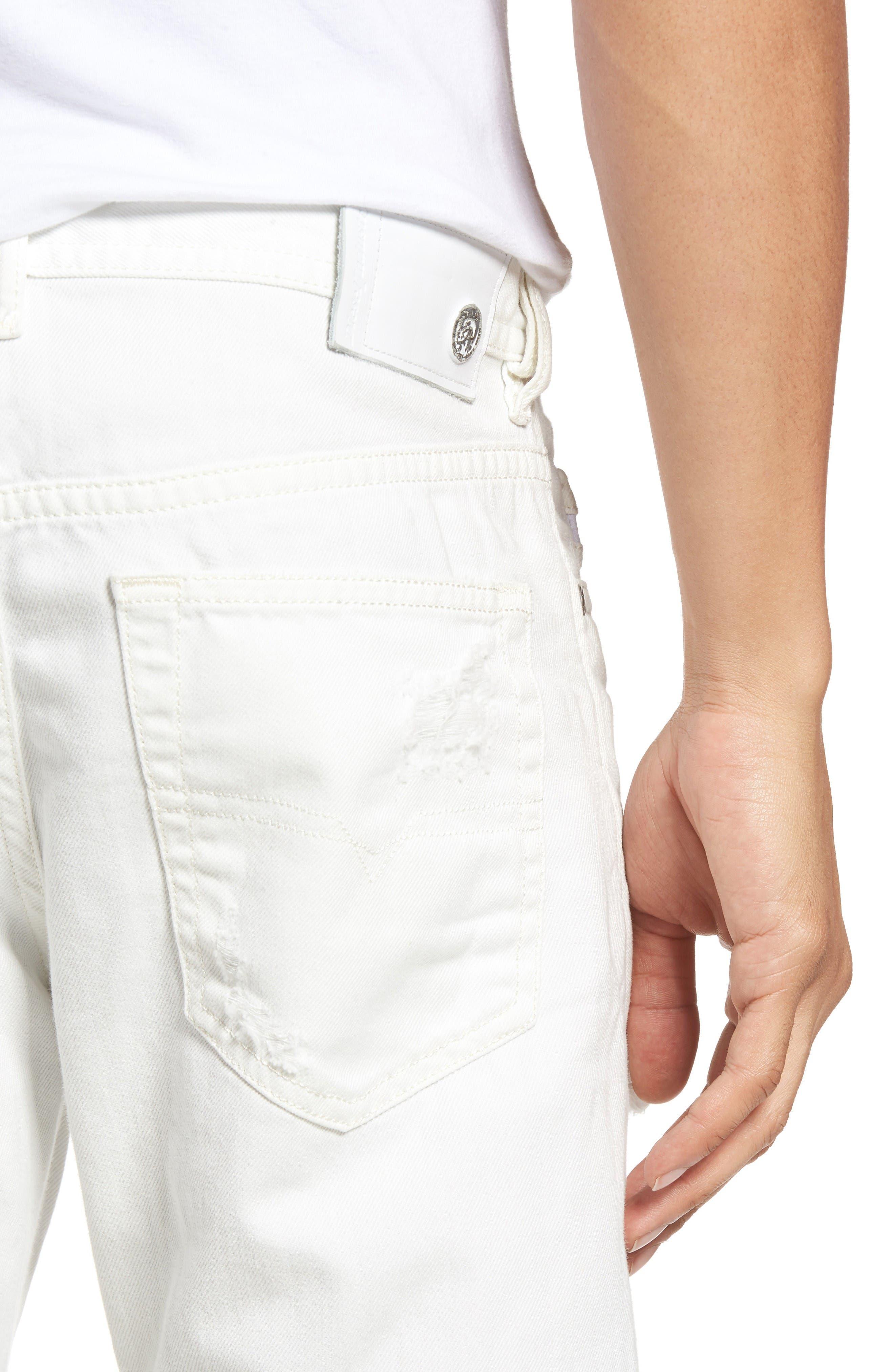 Alternate Image 4  - DIESEL® Buster Slim Straight Leg Jeans (680K)
