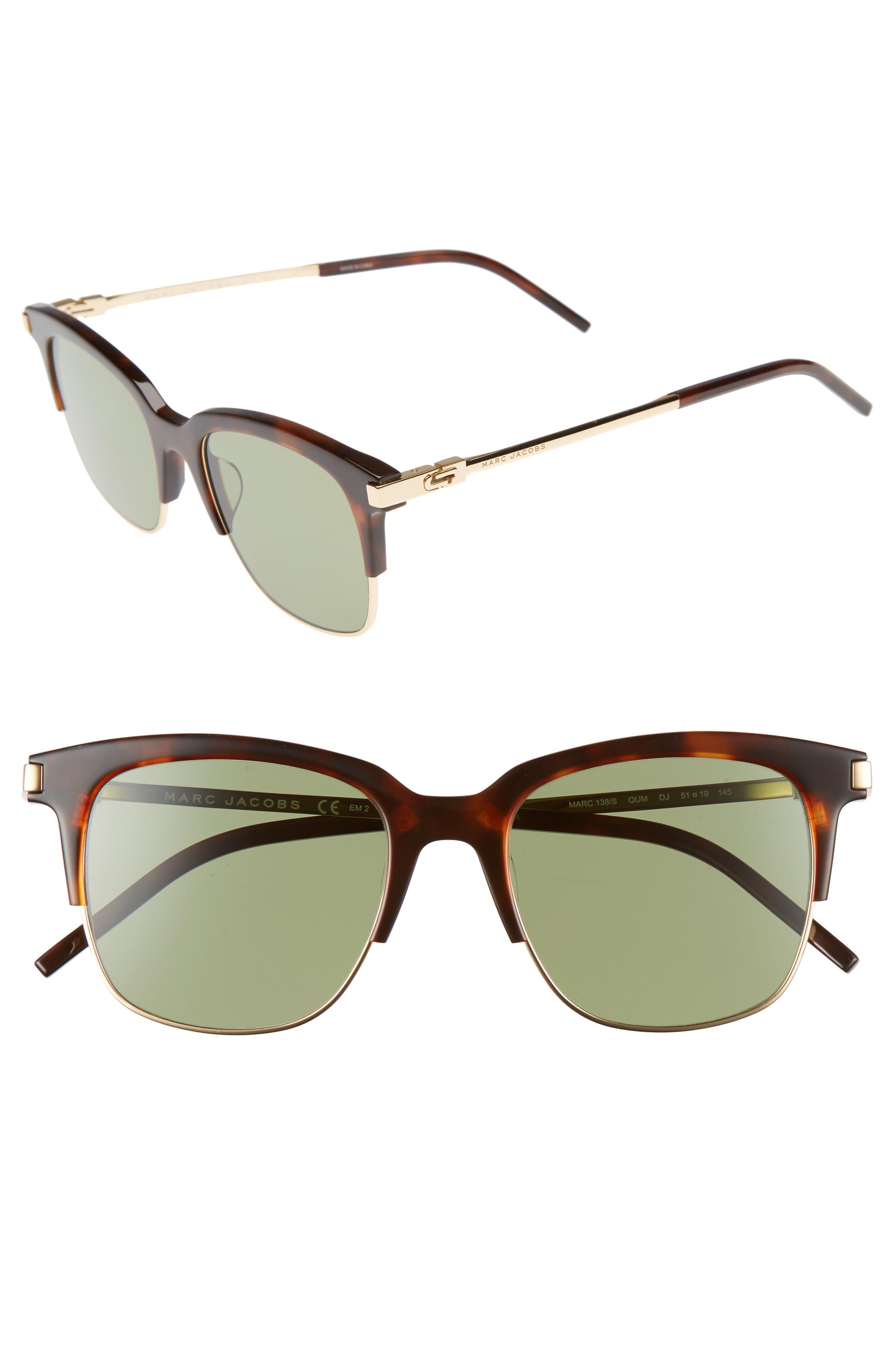 51mm Sunglasses,                         Main,                         color, Havana