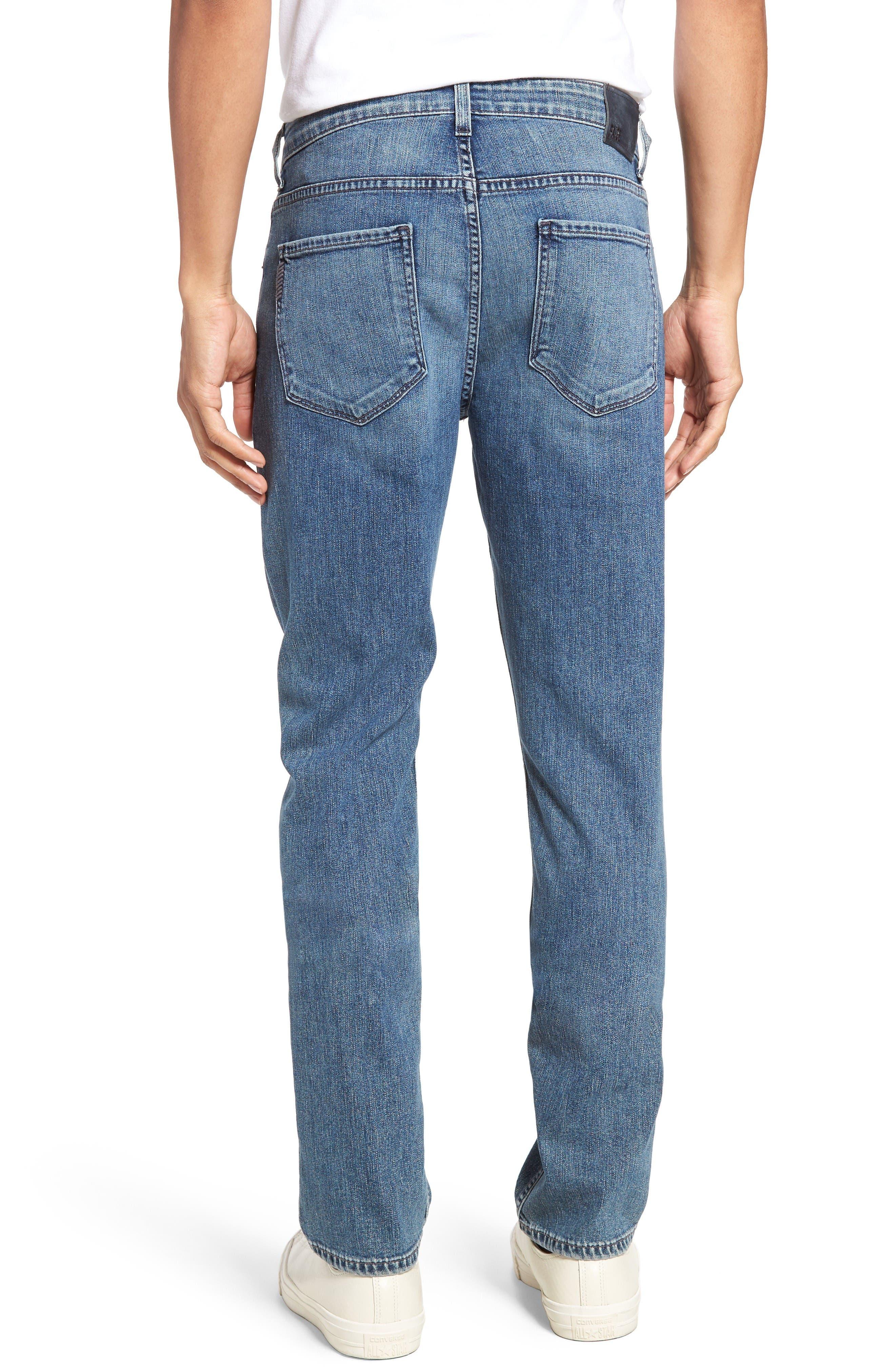 Alternate Image 2  - PAIGE Normandie Straight Leg Jeans (Gibbs)