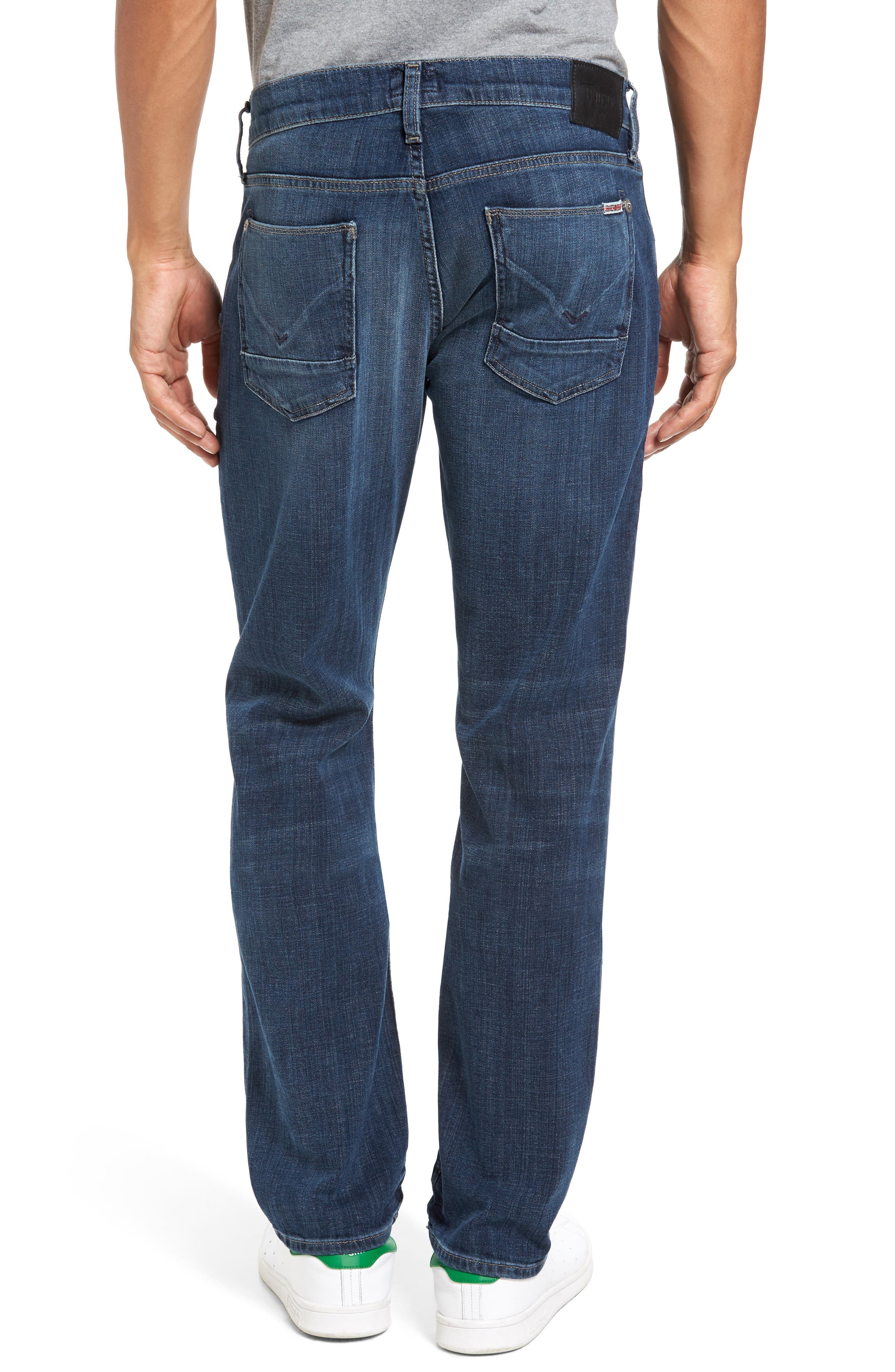 Alternate Image 2  - Hudson Jeans Byron Slim Straight Leg Jean (Harris)