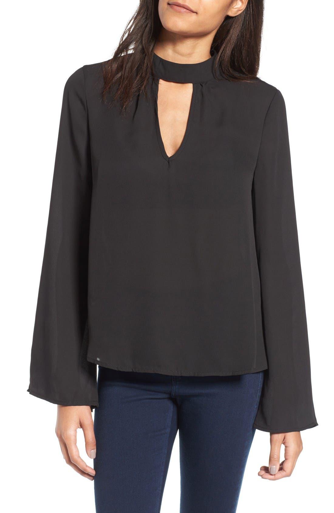 Main Image - Band of Gypsies Bell Sleeve Blouse