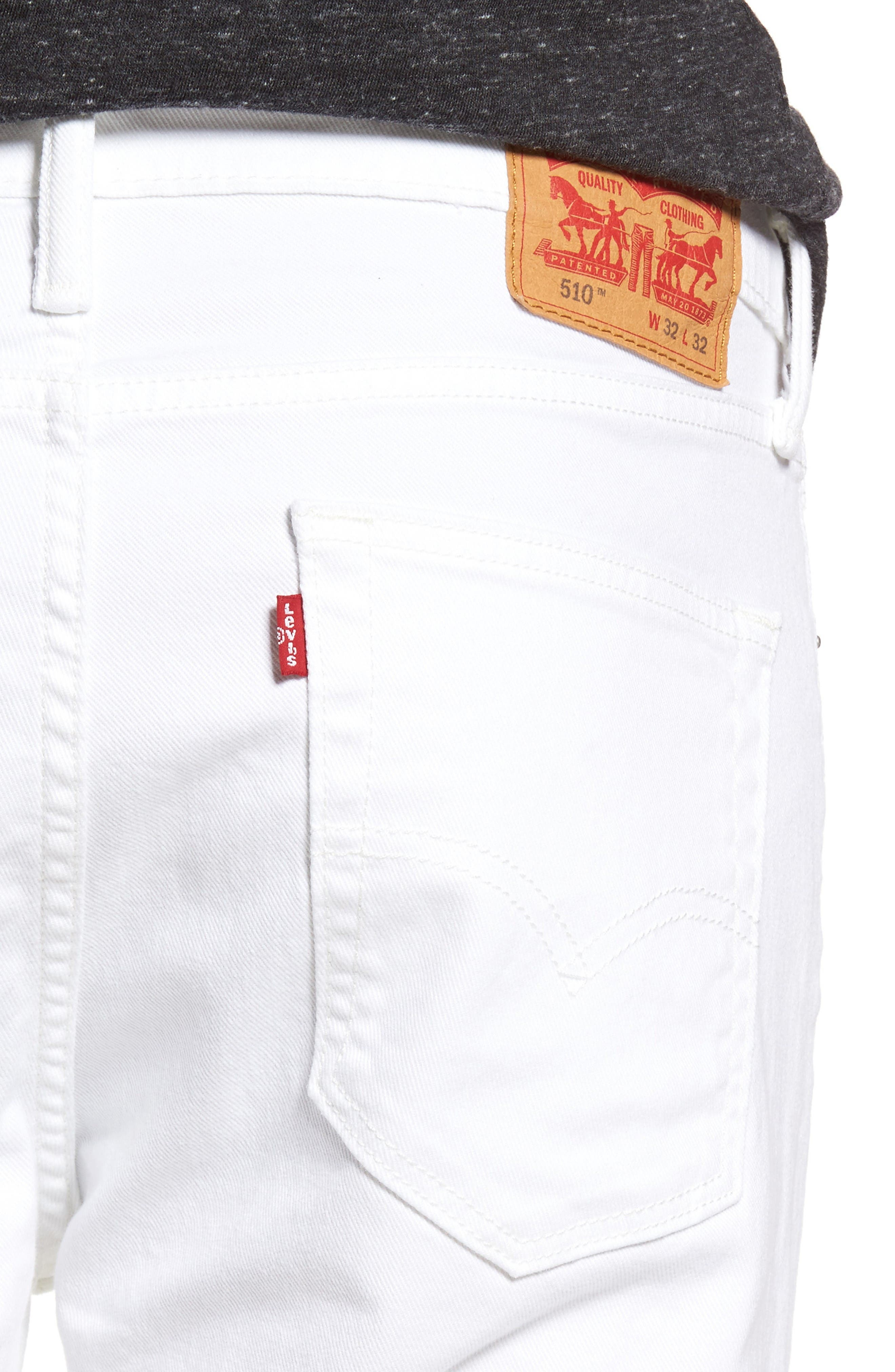 510<sup>®</sup> Skinny Fit Jeans,                             Alternate thumbnail 4, color,                             White Bull Denim