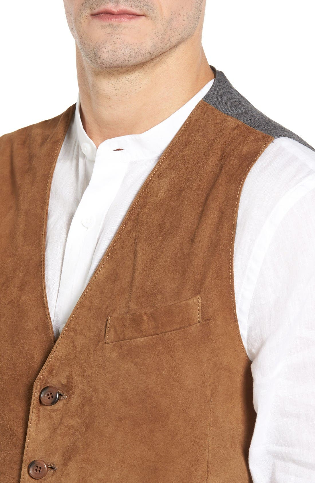 Lamb Front Vest,                             Alternate thumbnail 4, color,                             Tobacco