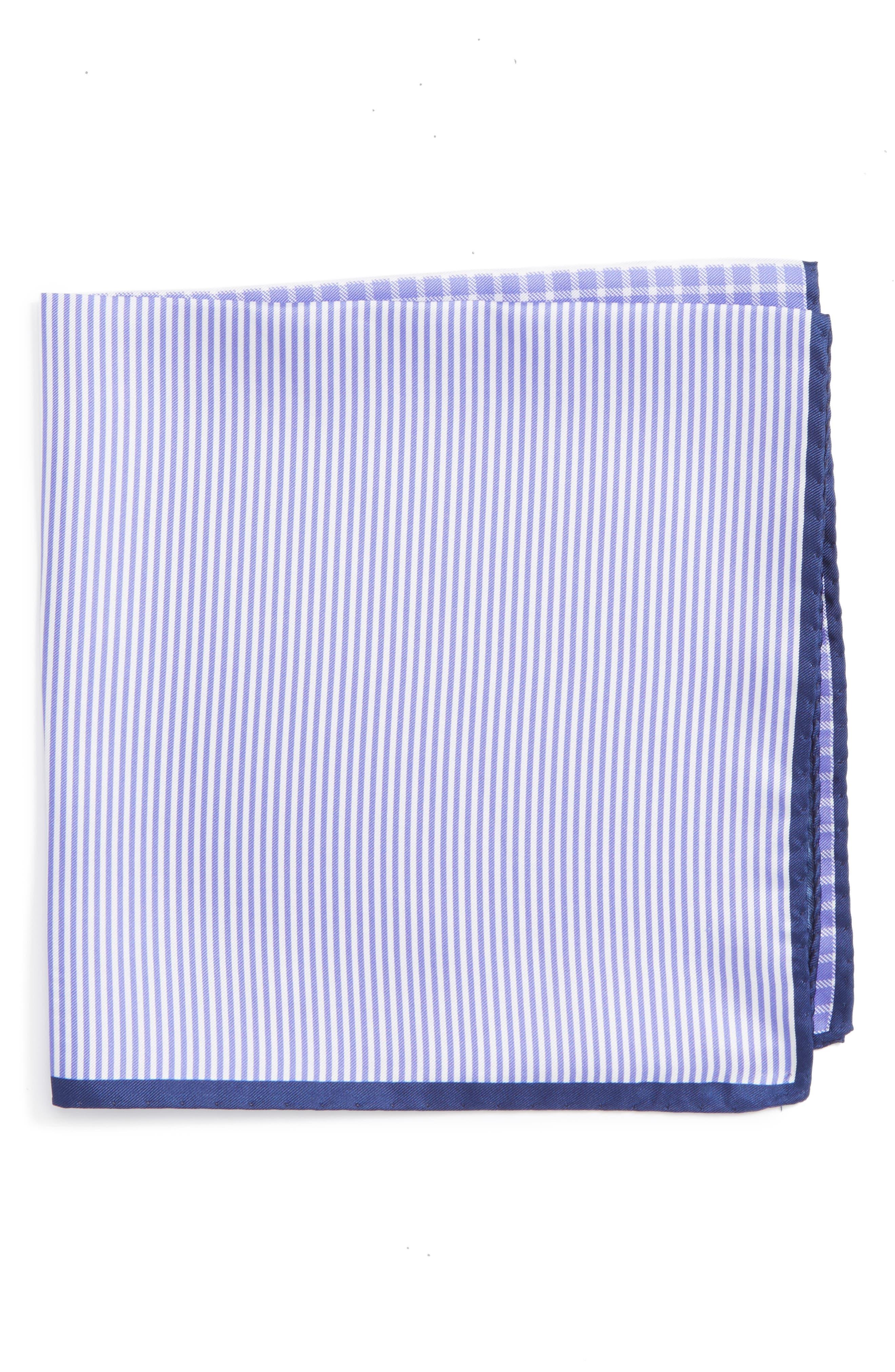 Panel Silk Pocket Square,                         Main,                         color, Purple