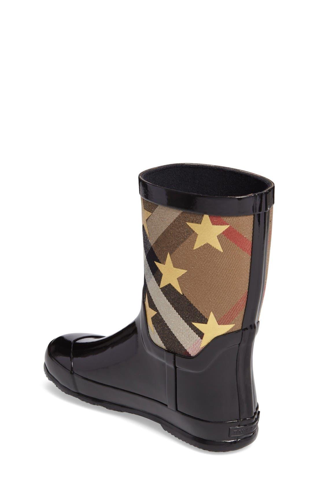 Alternate Image 2  - Burberry Ranmoor Star Rain Boot (Toddler & Little Kid)