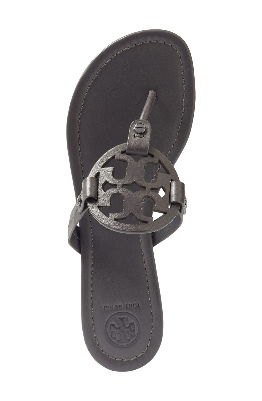'Miller' Flip Flop,                             Alternate thumbnail 4, color,                             Dark Grey