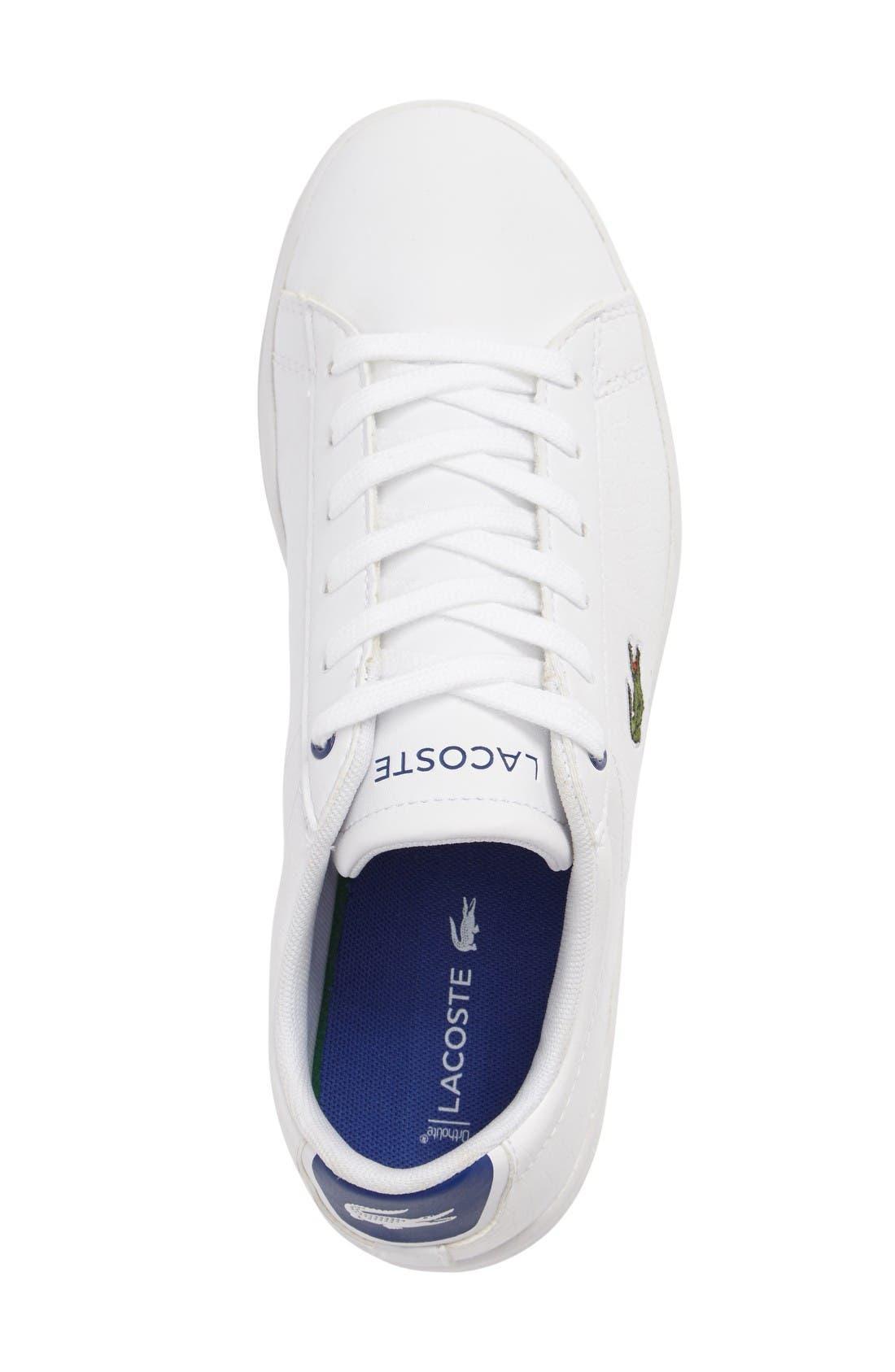 Carnaby EVO Sneaker,                             Alternate thumbnail 3, color,                             White/ Blue