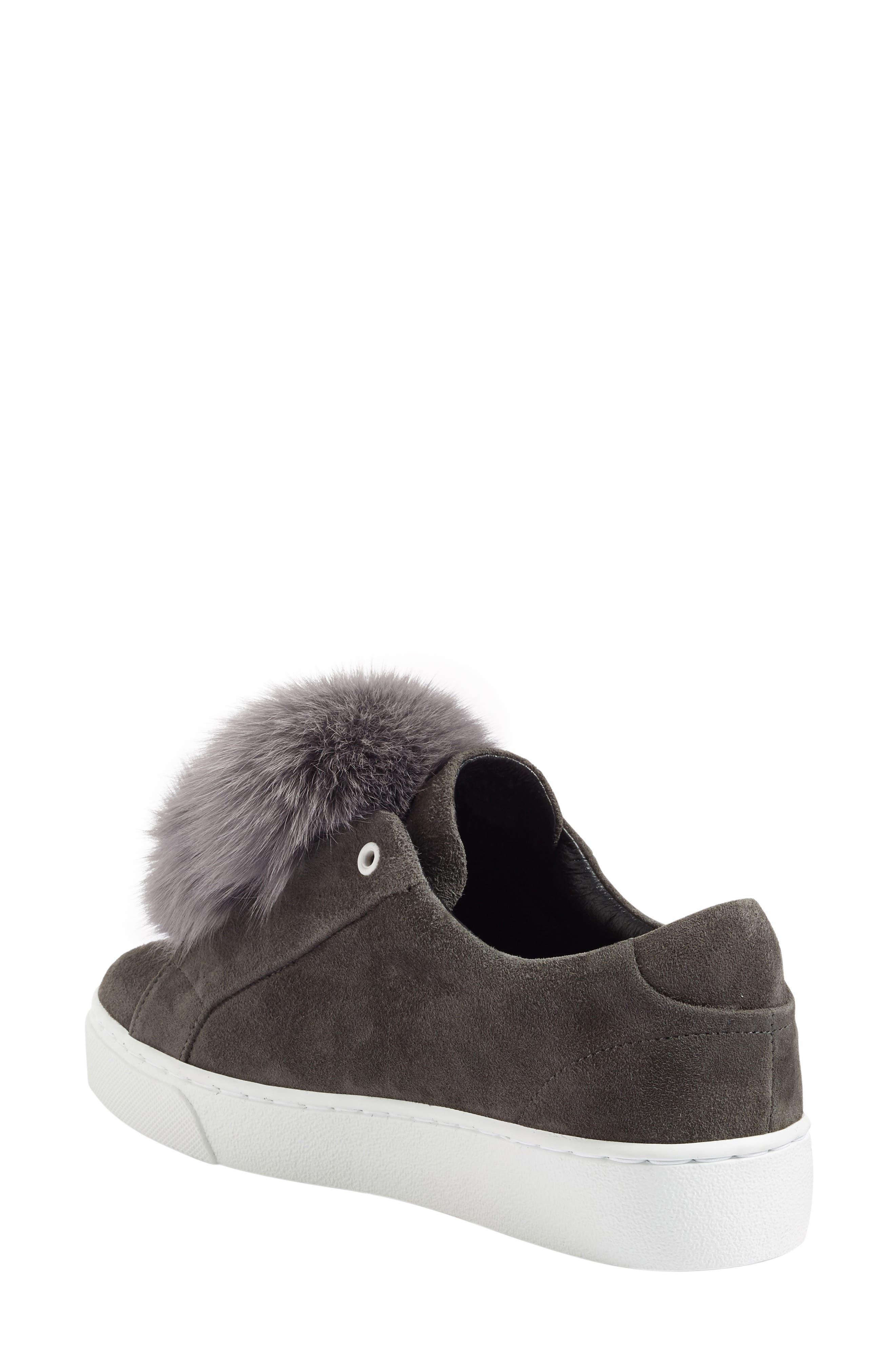 Alternate Image 2  - Here / Now Heather Genuine Fox Fur Trim Sneaker (Women)