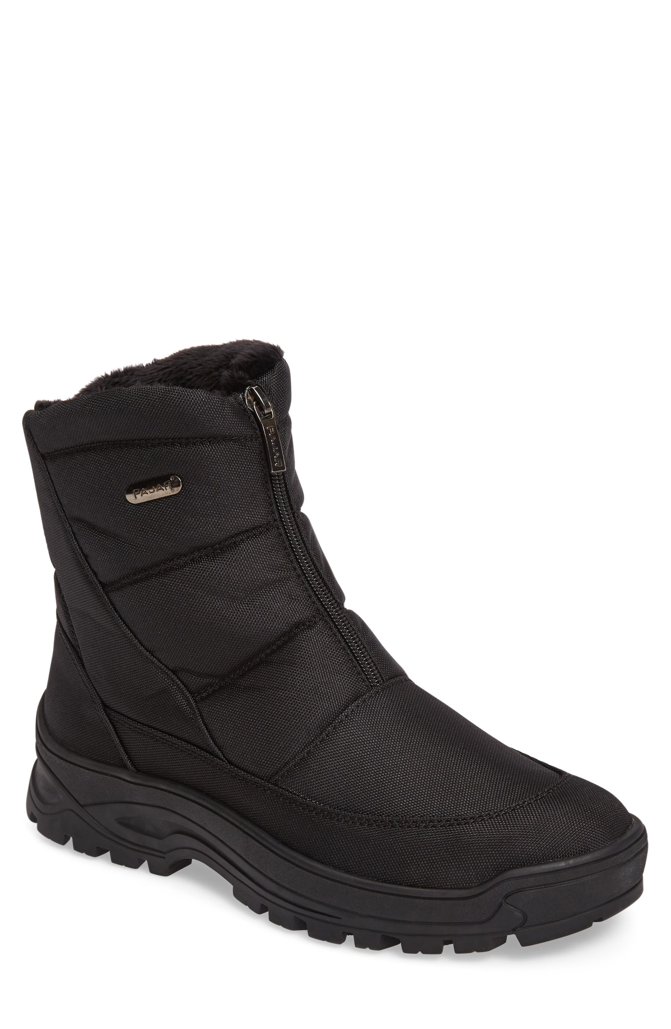 Icepack Boot with Faux Fur Lining,                         Main,                         color, Black