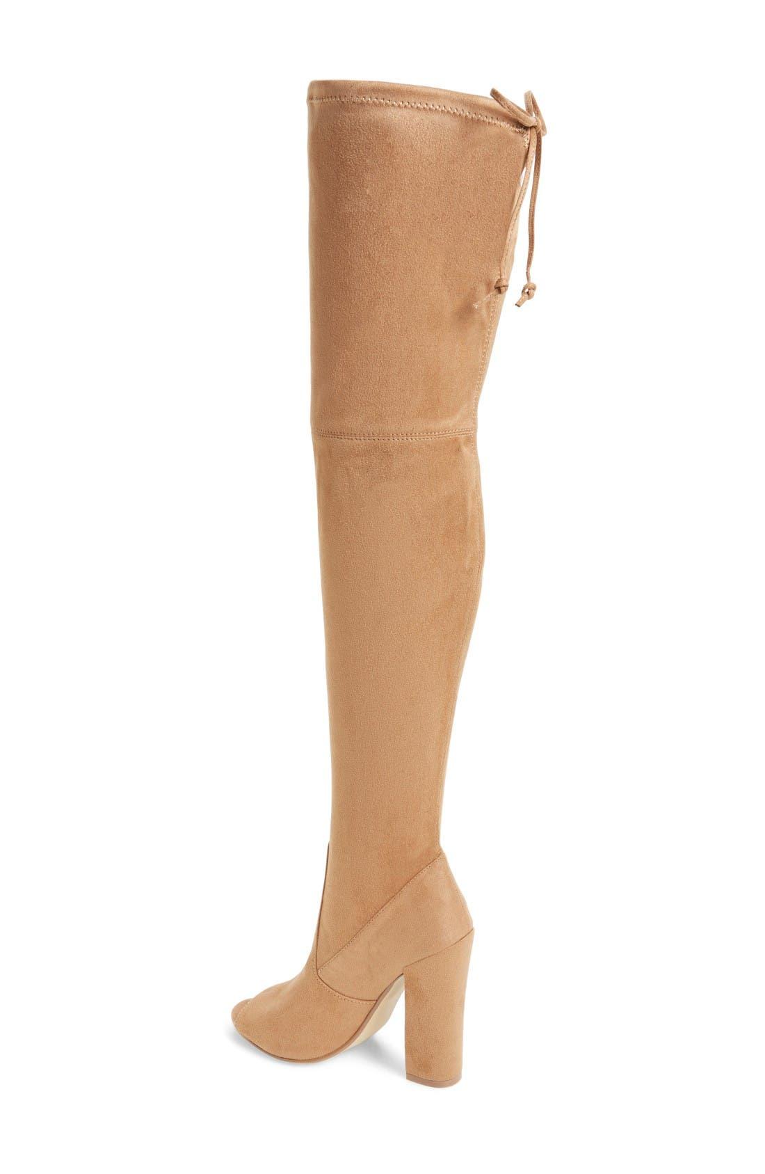 Alternate Image 2  - Steve Madden Elliana Over the Knee Open Toe Boot (Women)