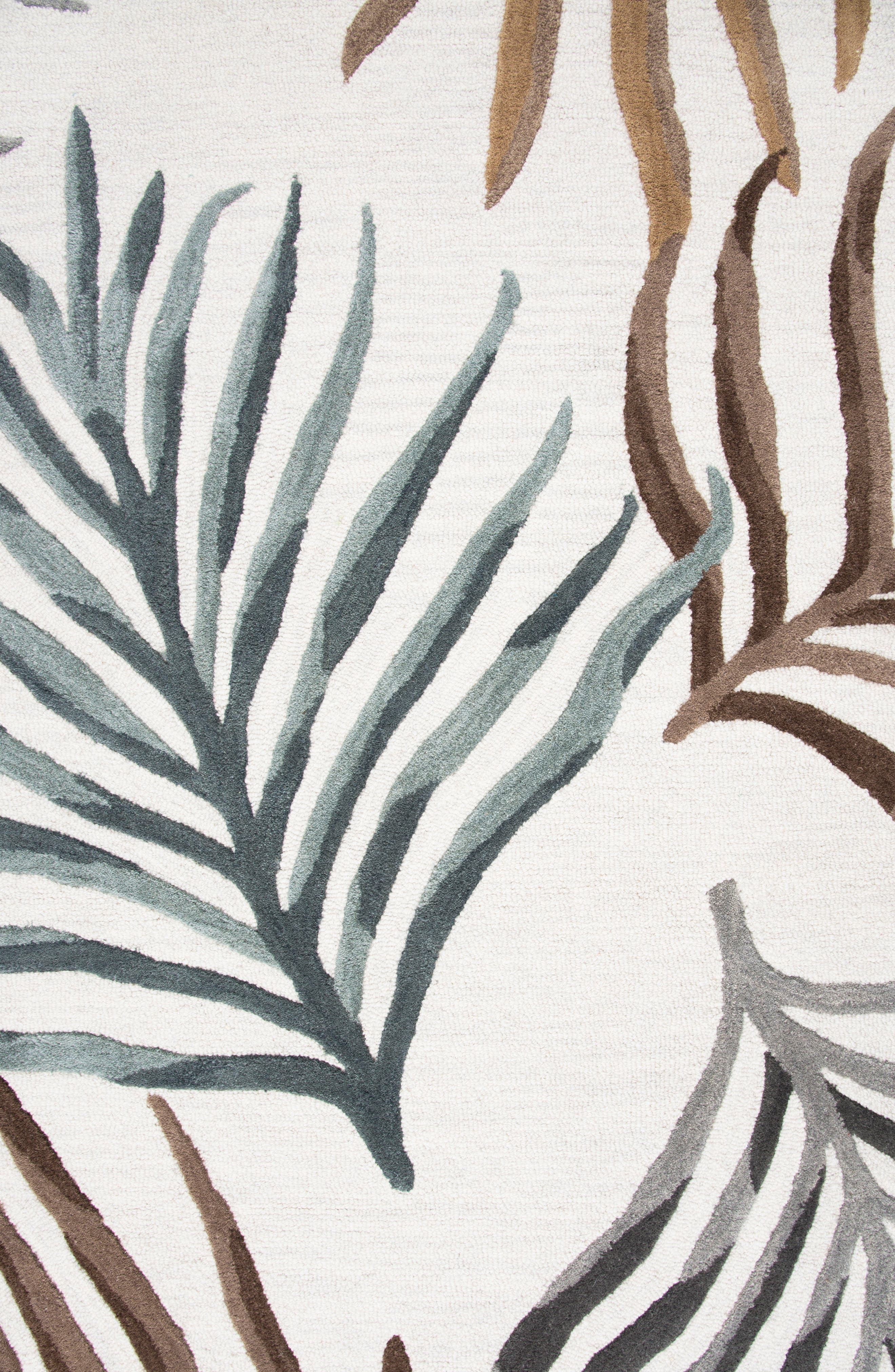 Palm Hand Tufted Wool Area Rug,                             Alternate thumbnail 2, color,                             Cream/ Multi
