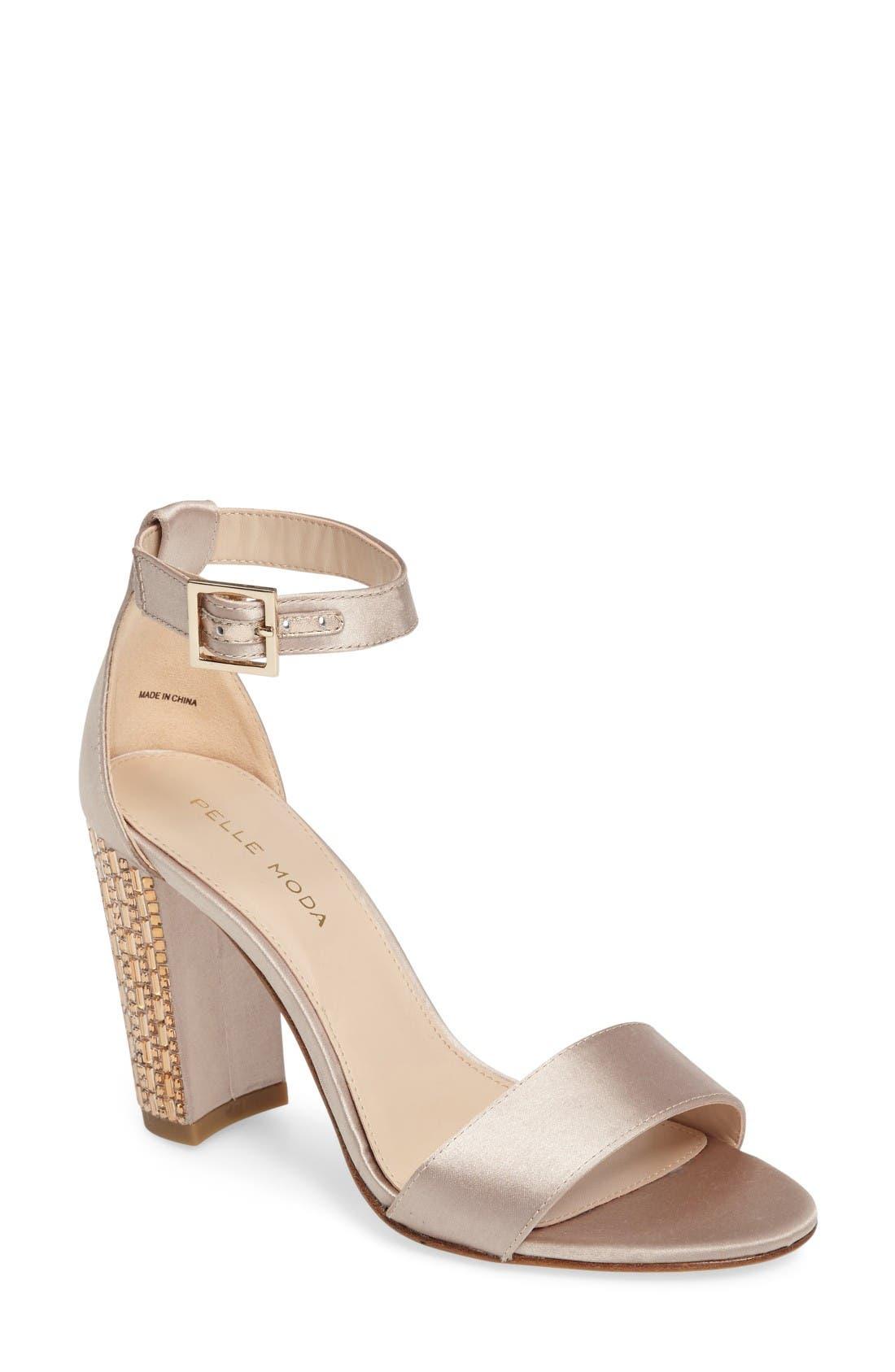 Pelle Moda Bonnie 3 Embellished Ankle Strap Sandal (Women)