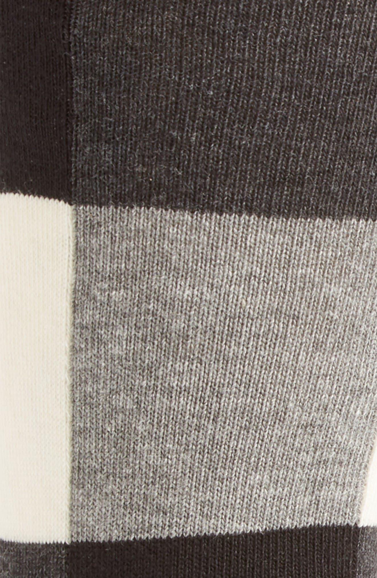 Check Socks,                             Alternate thumbnail 2, color,                             Black/ White/ Grey
