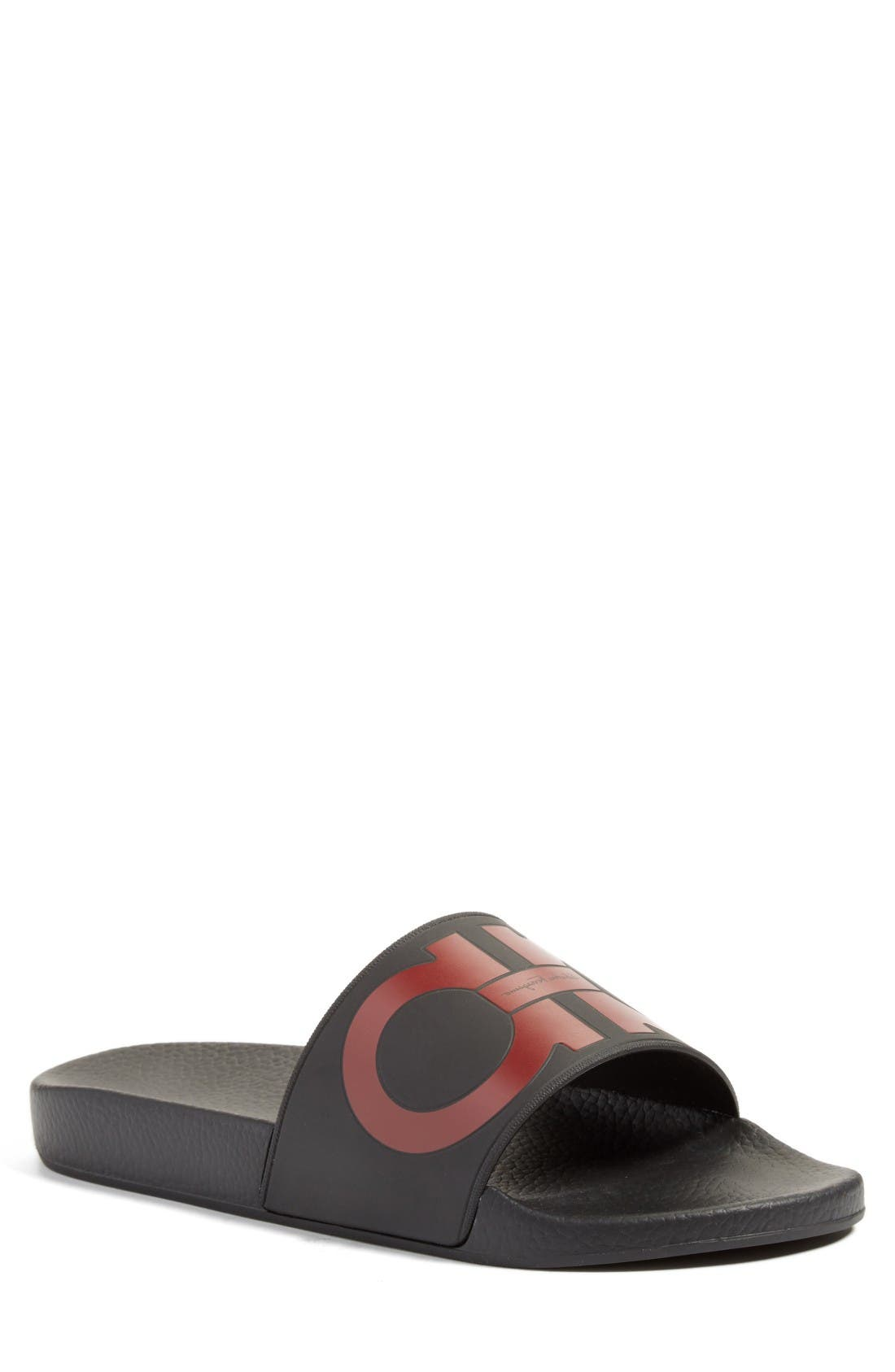 Salvatore Ferragamo Groove Slide Sandal (Men)