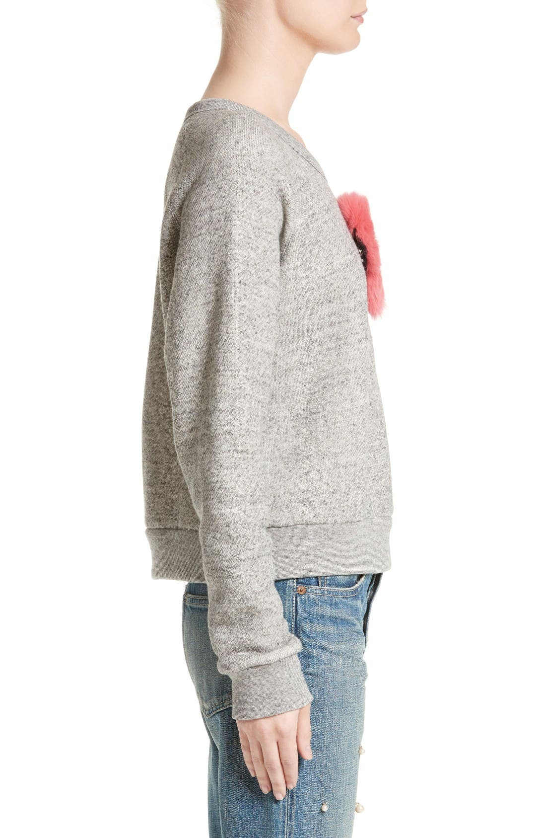 One Heart Pullover,                             Alternate thumbnail 5, color,                             Charcoal/Red