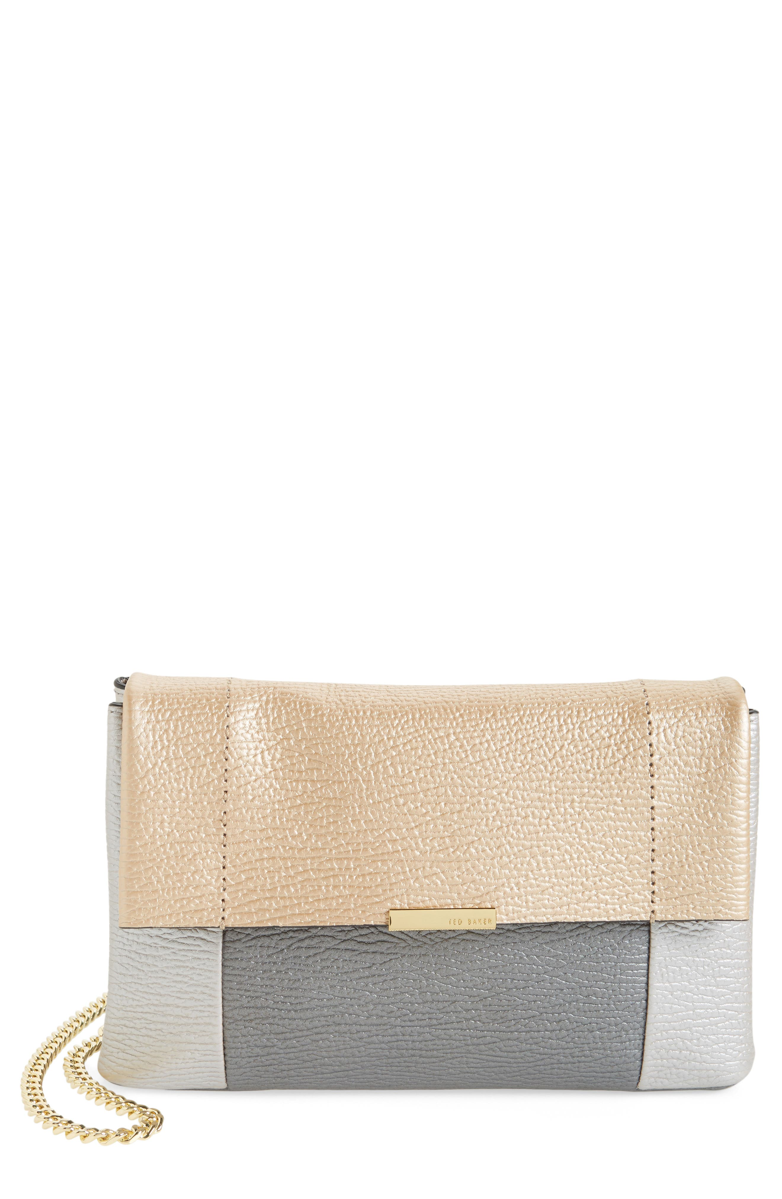 Main Image - Ted Baker London 'Parson' Pebbled Leather Crossbody Bag