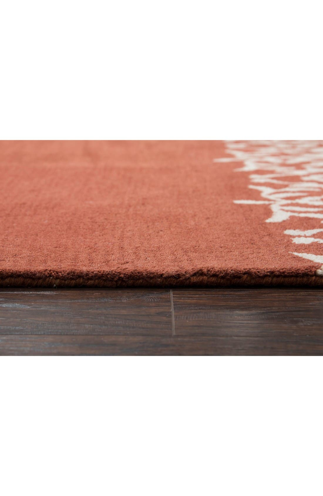 Framed Medallion Hand Tufted Wool Area Rug,                             Alternate thumbnail 3, color,                             Rust