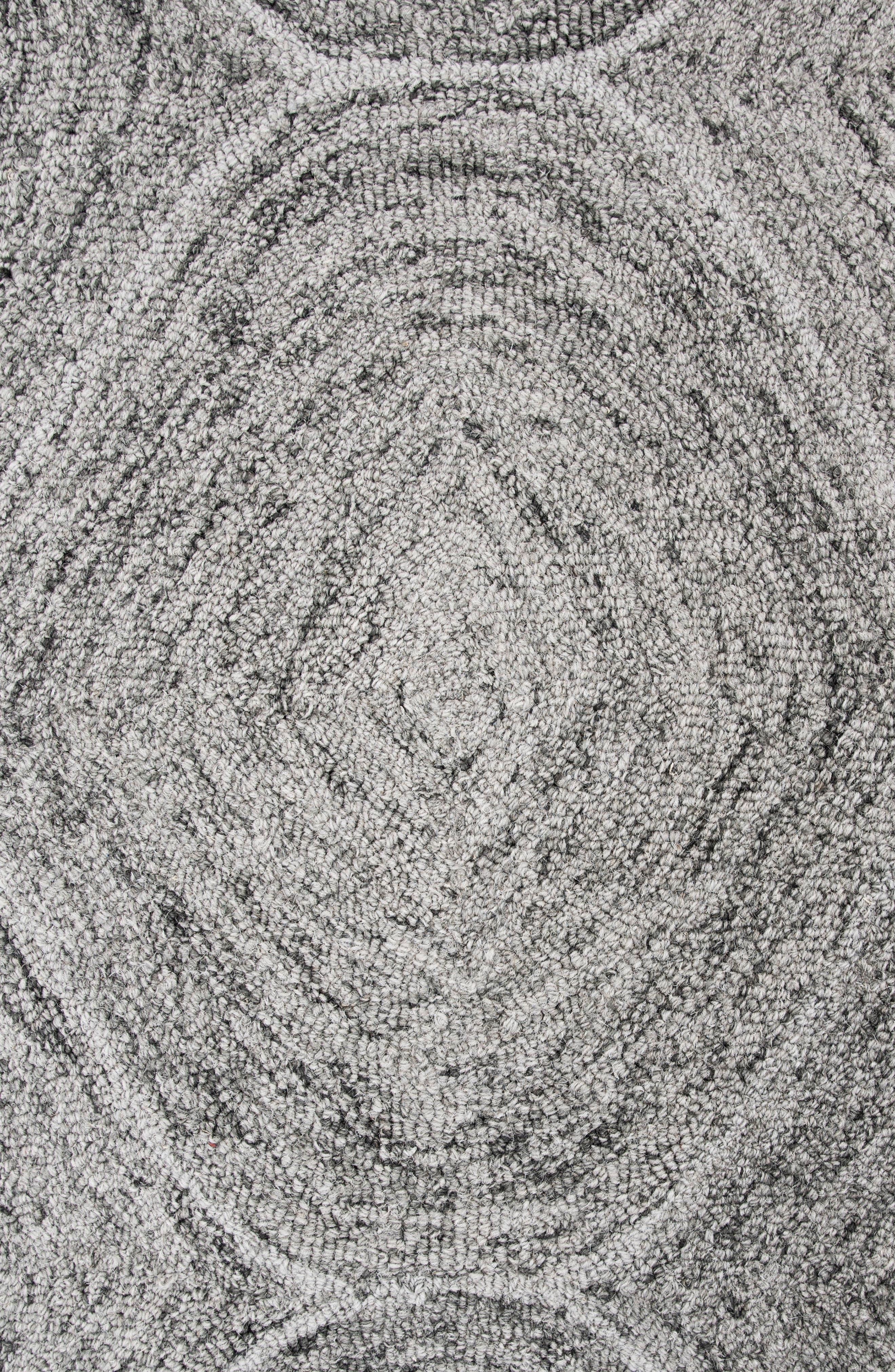 Irregular Diamond Hand Tufted Wool Area Rug,                             Alternate thumbnail 4, color,                             Grey