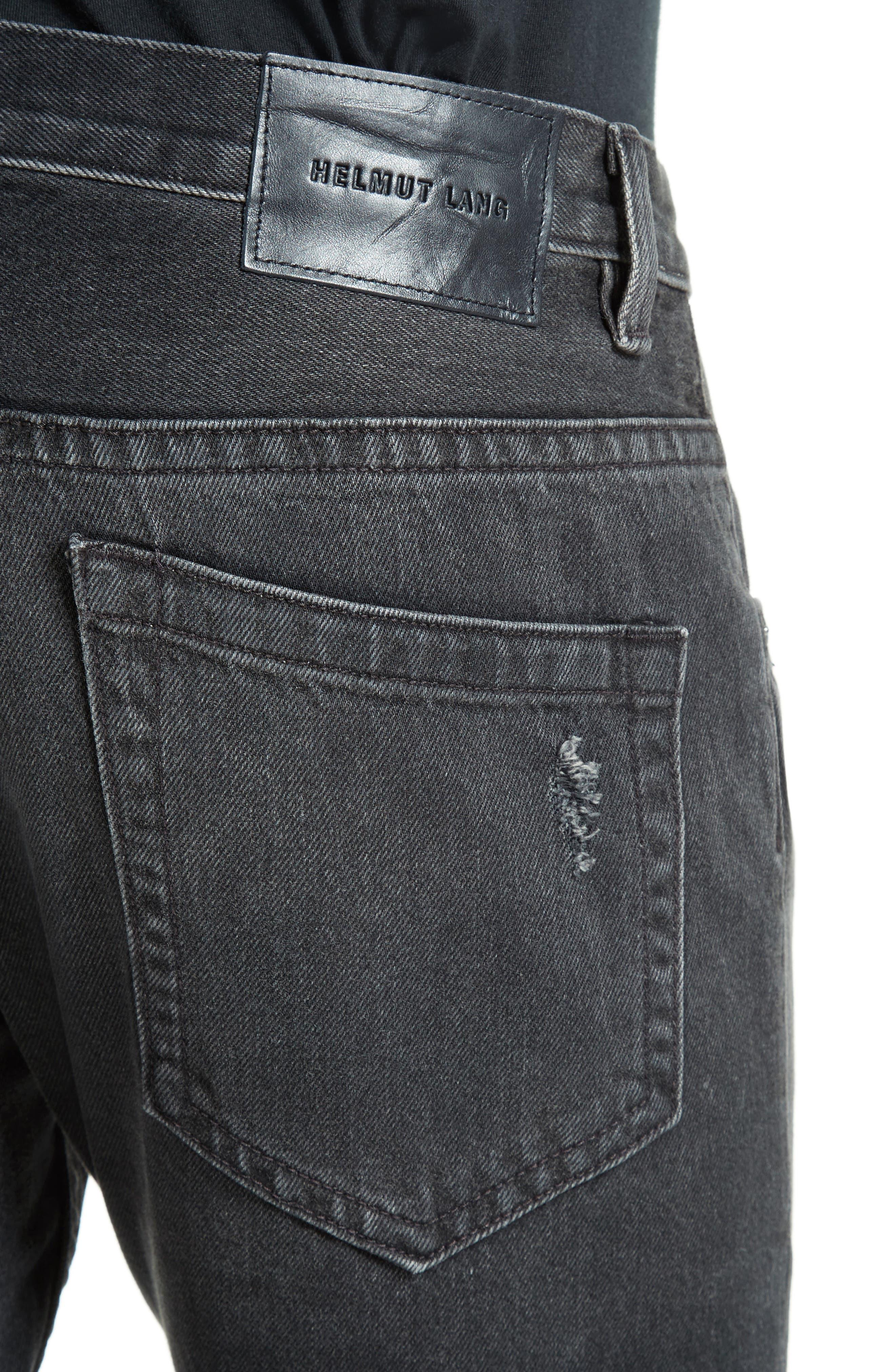 MR87 Destroyed Jeans,                             Alternate thumbnail 4, color,                             Black