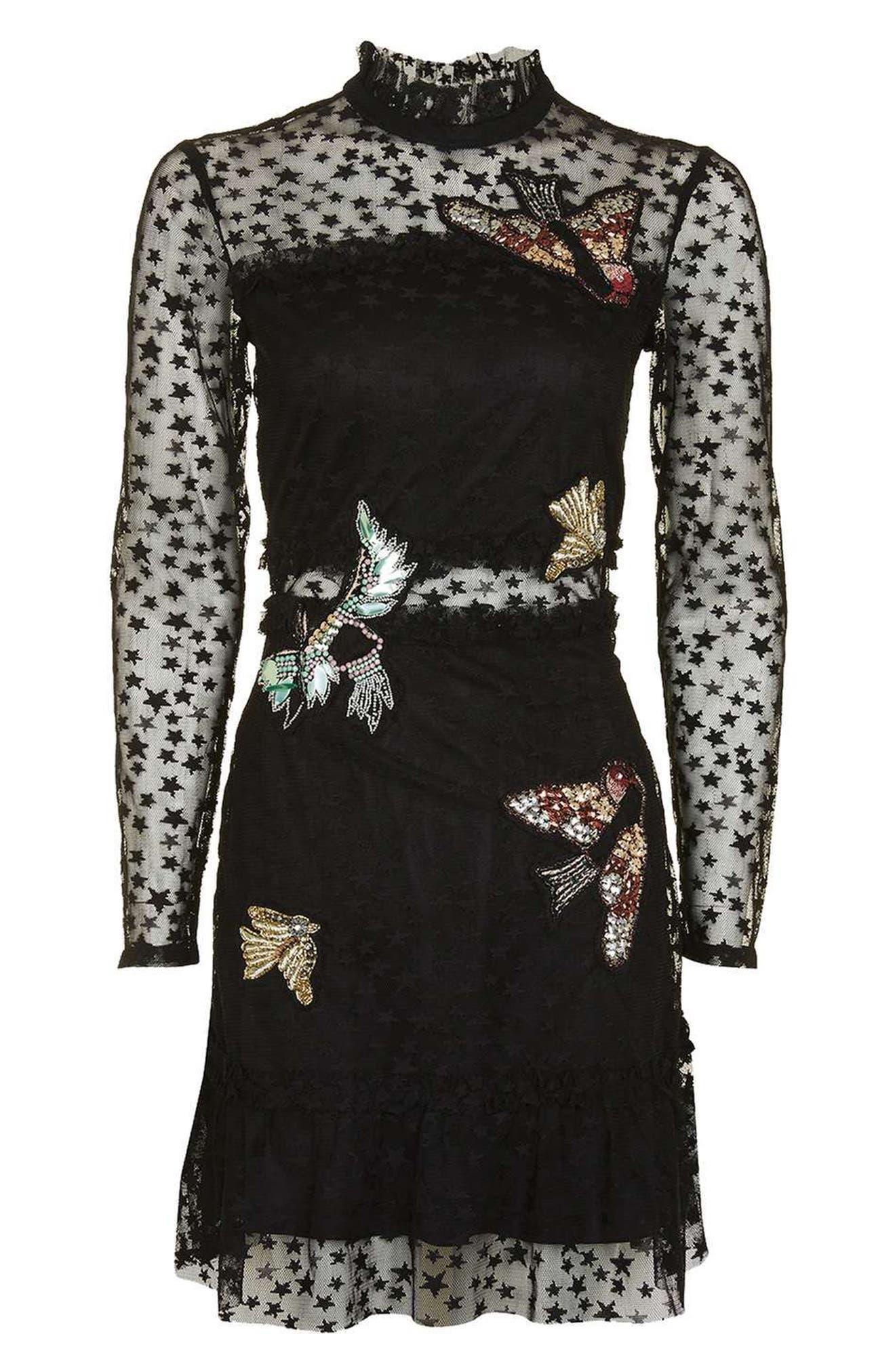 Alternate Image 2  - Topshop Bird Embellished Star Dress