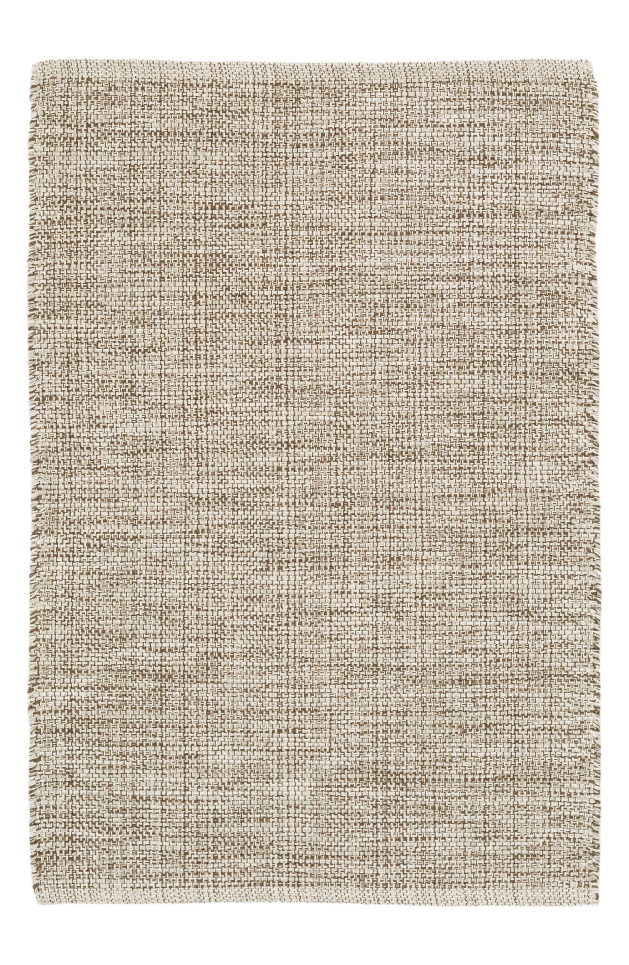 Woven Cotton Rug,                         Main,                         color, Brown