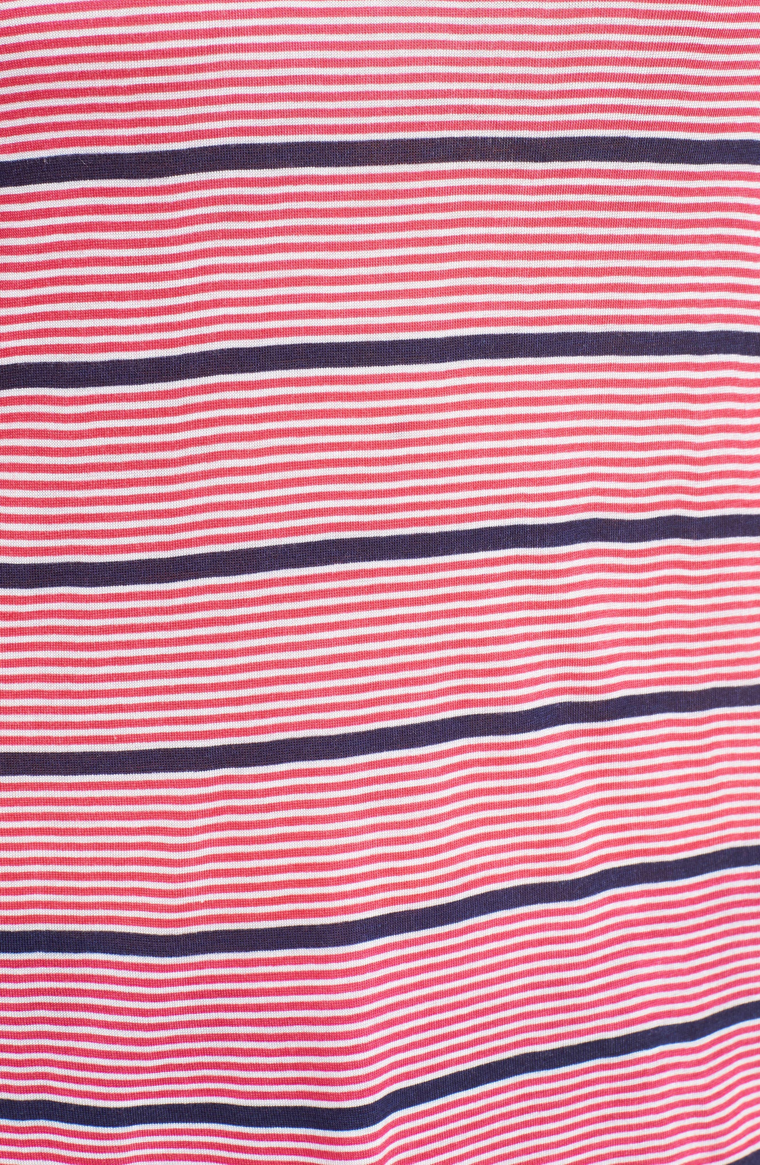 Alternate Image 5  - MICHAEL Michael Kors Stripe Cold Shoulder Tee (Regular & Petite)