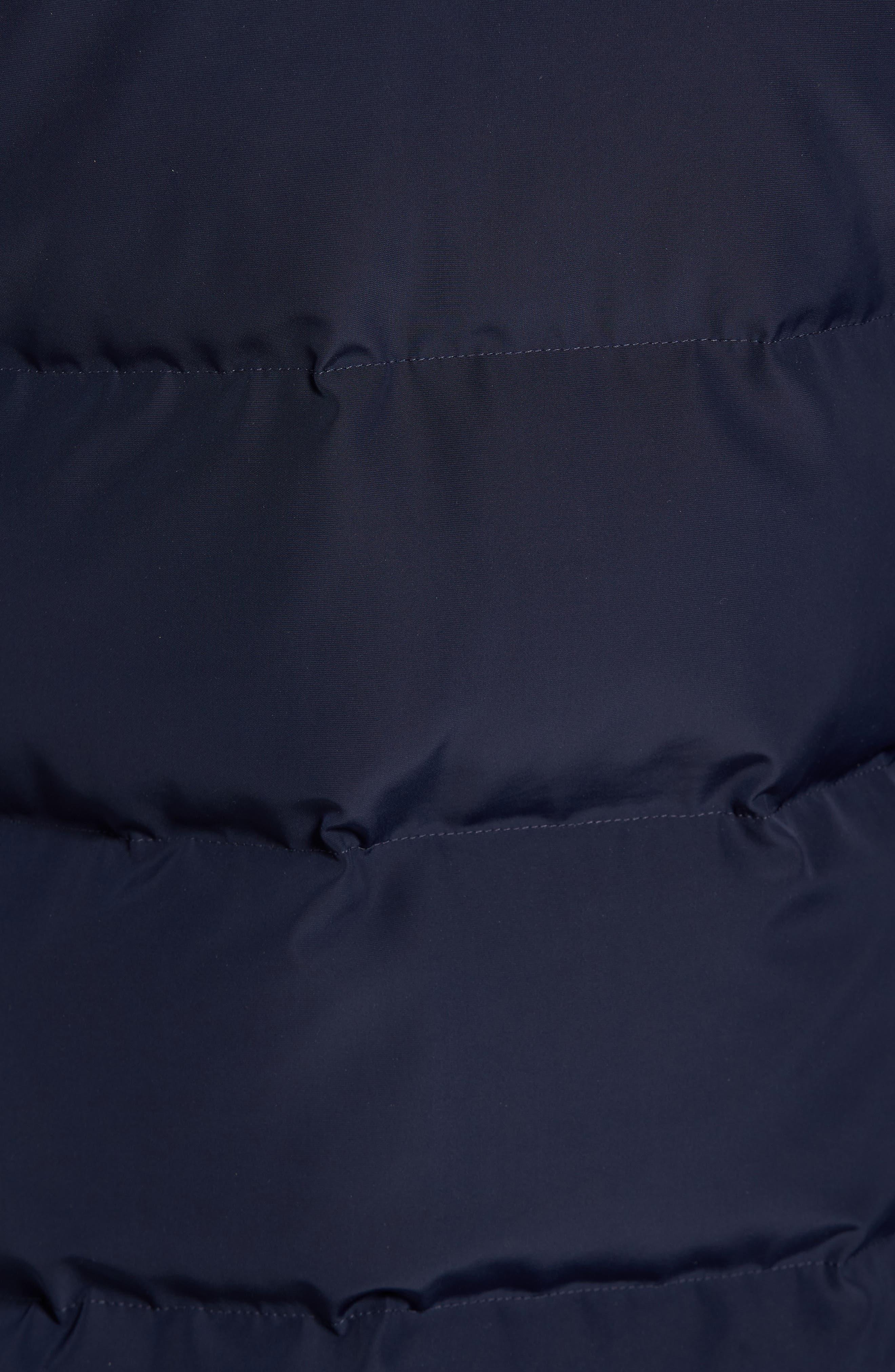 Algonquin Genuine Fur Trim Down Parka,                             Alternate thumbnail 5, color,                             Midnight Navy