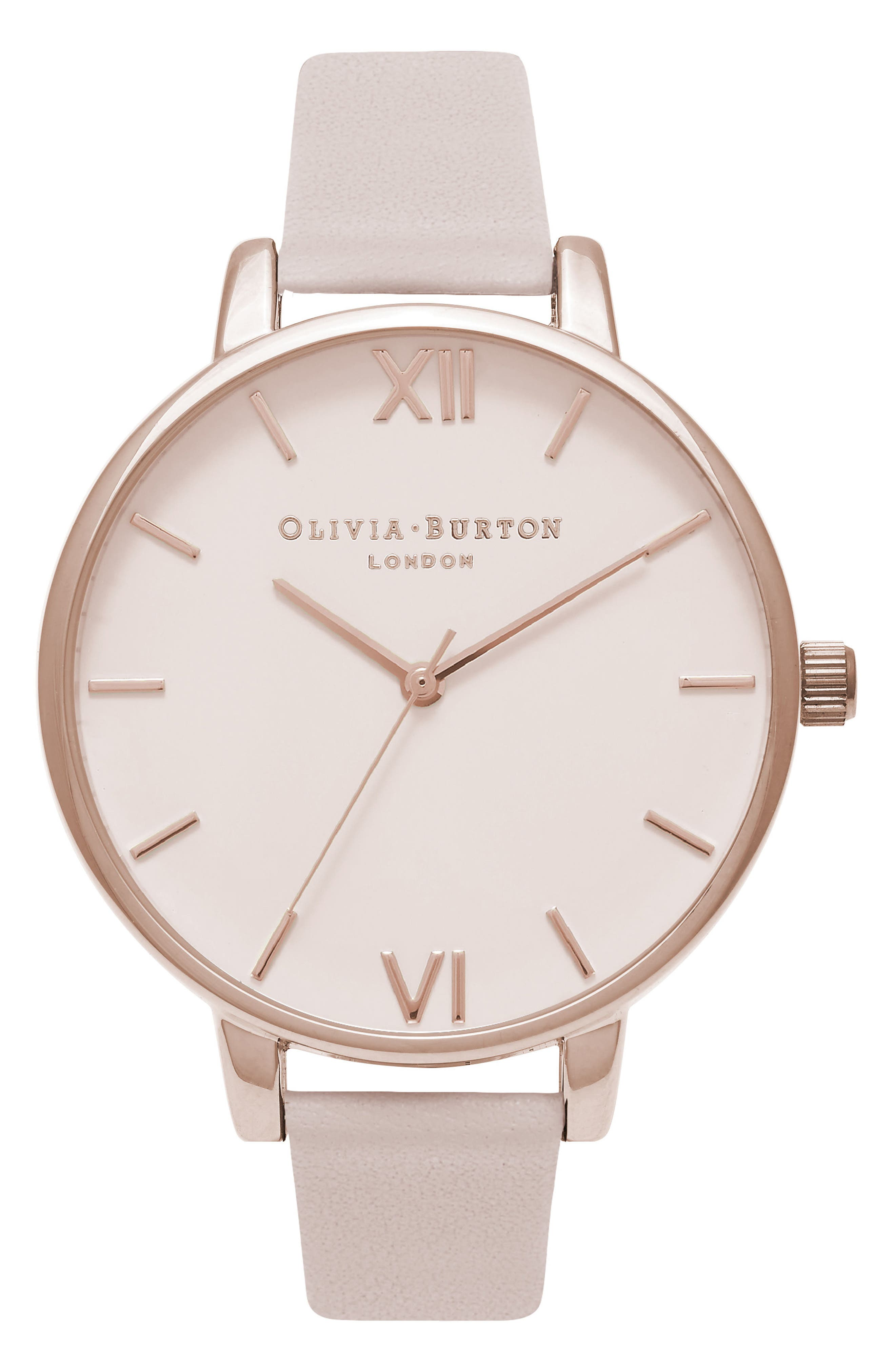 Olivia Burton Begin to Blush Leather Strap Watch, 38mm