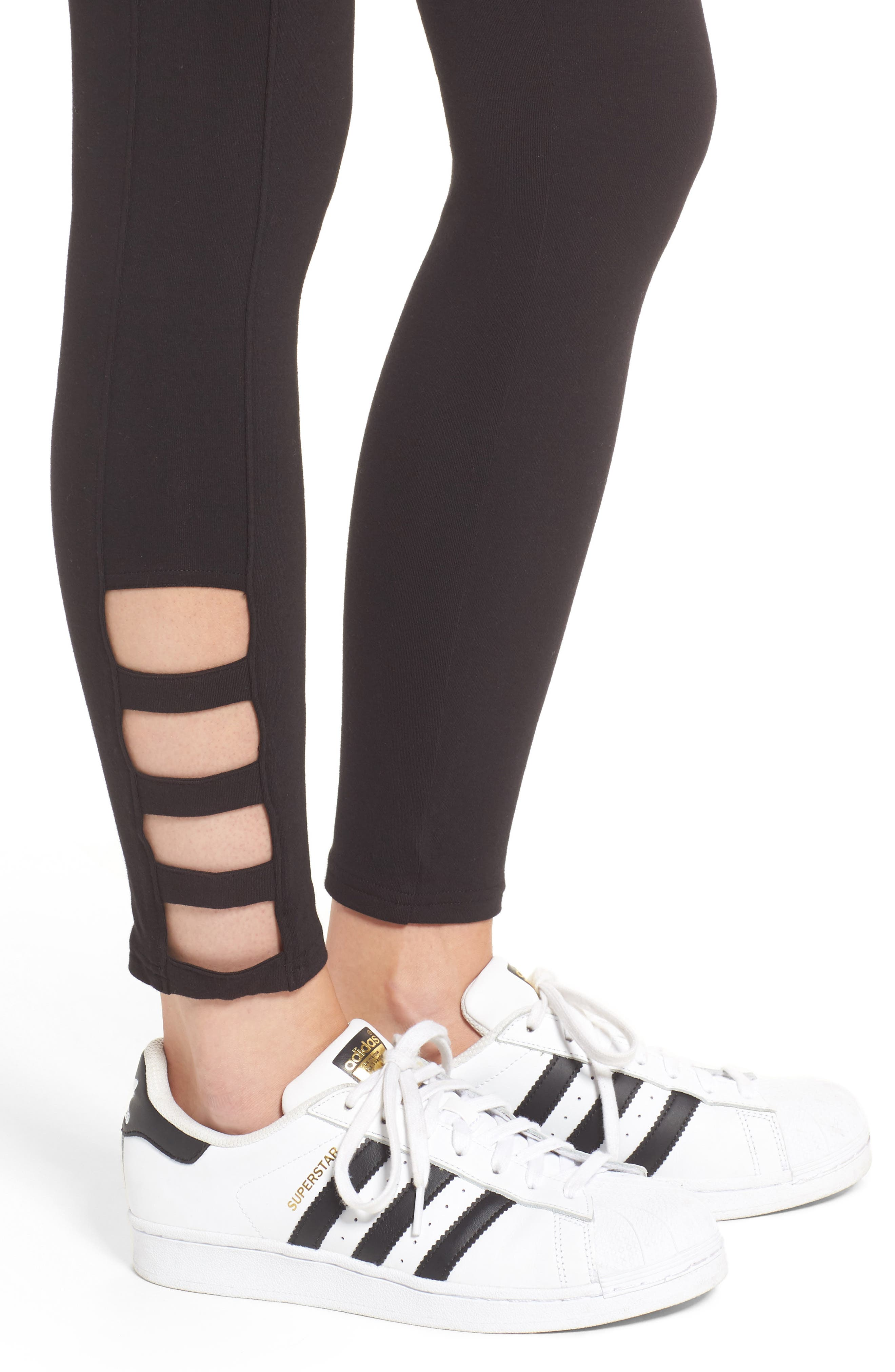 Alternate Image 4  - Hue Cutout Ankle Leggings