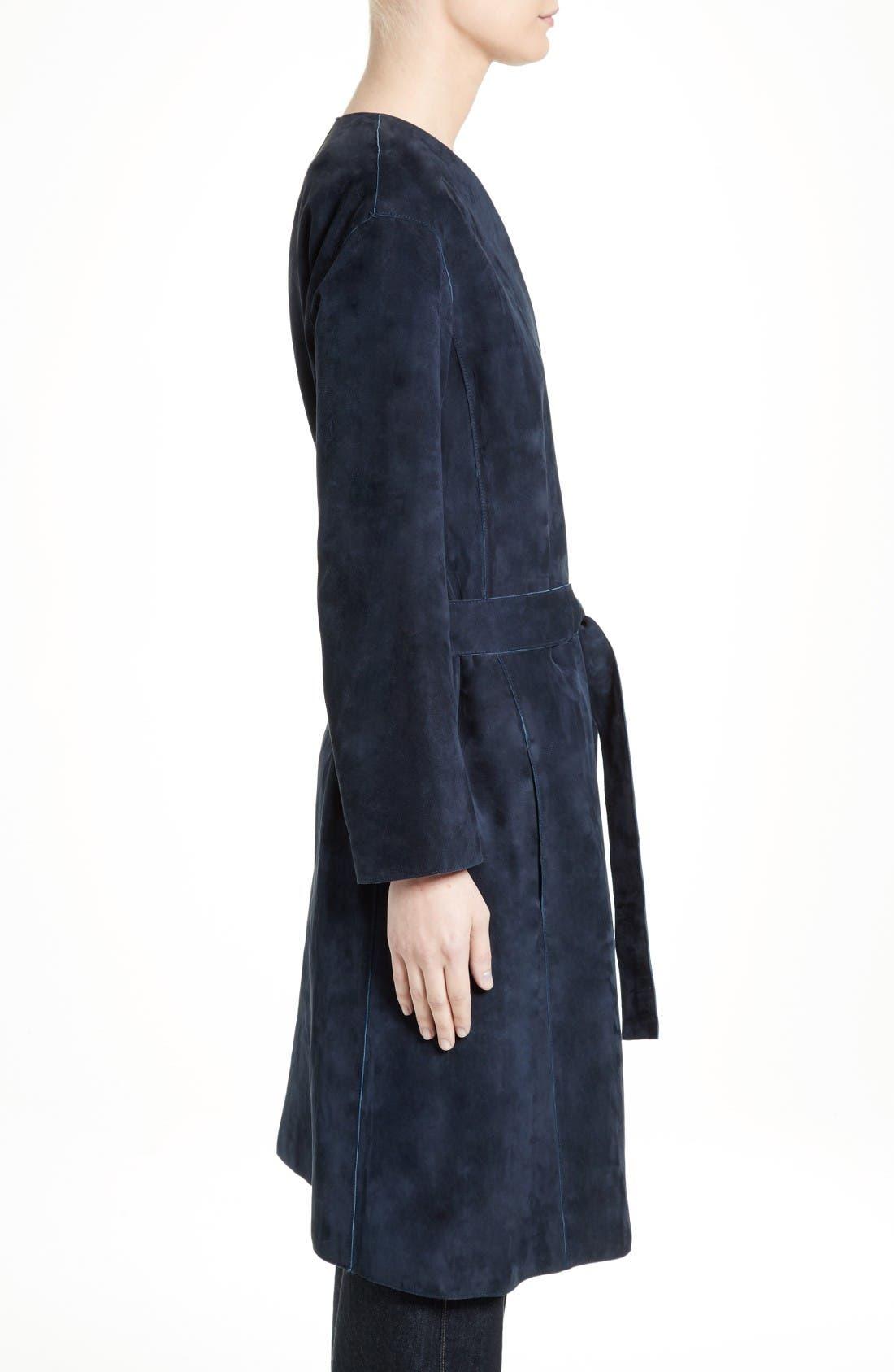 Alternate Image 3  - Vince Suede Robe Coat