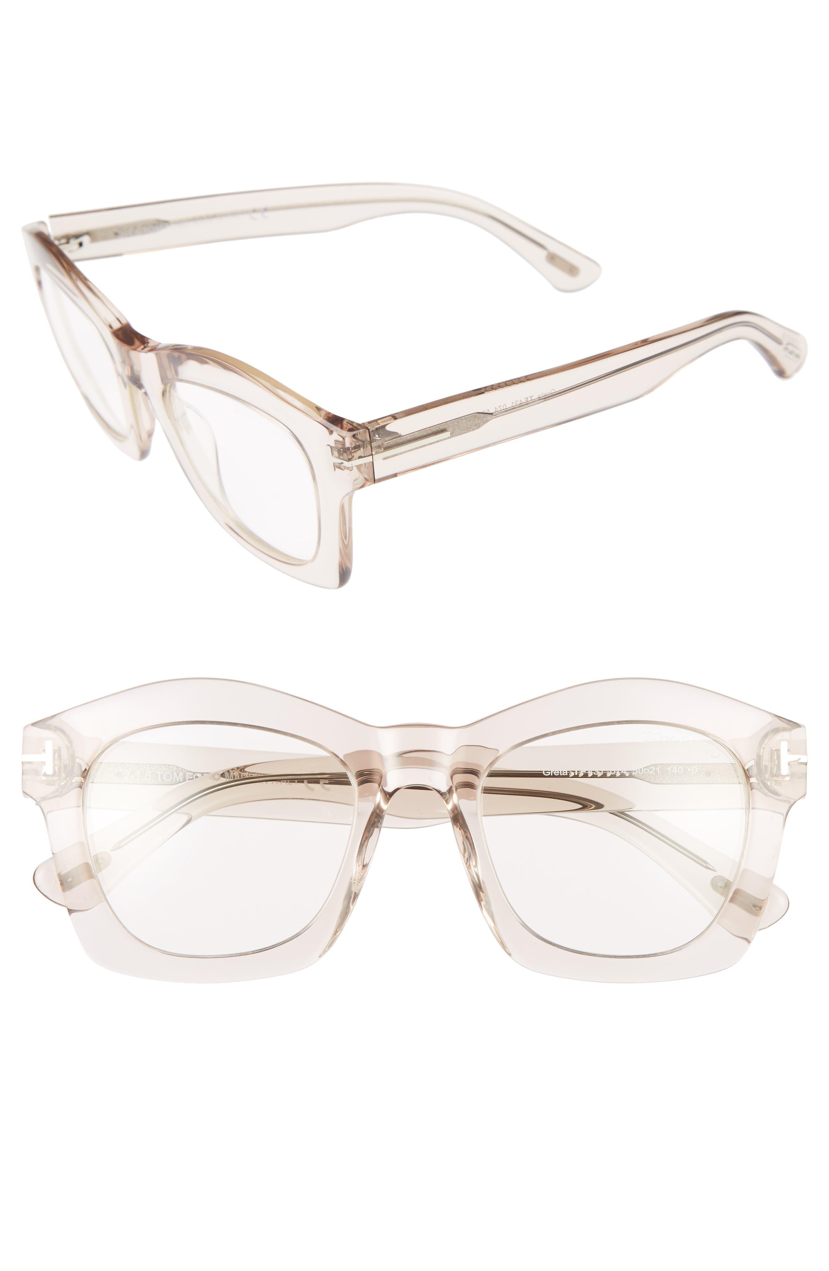 TOM FORD Greta 50mm Sunglasses