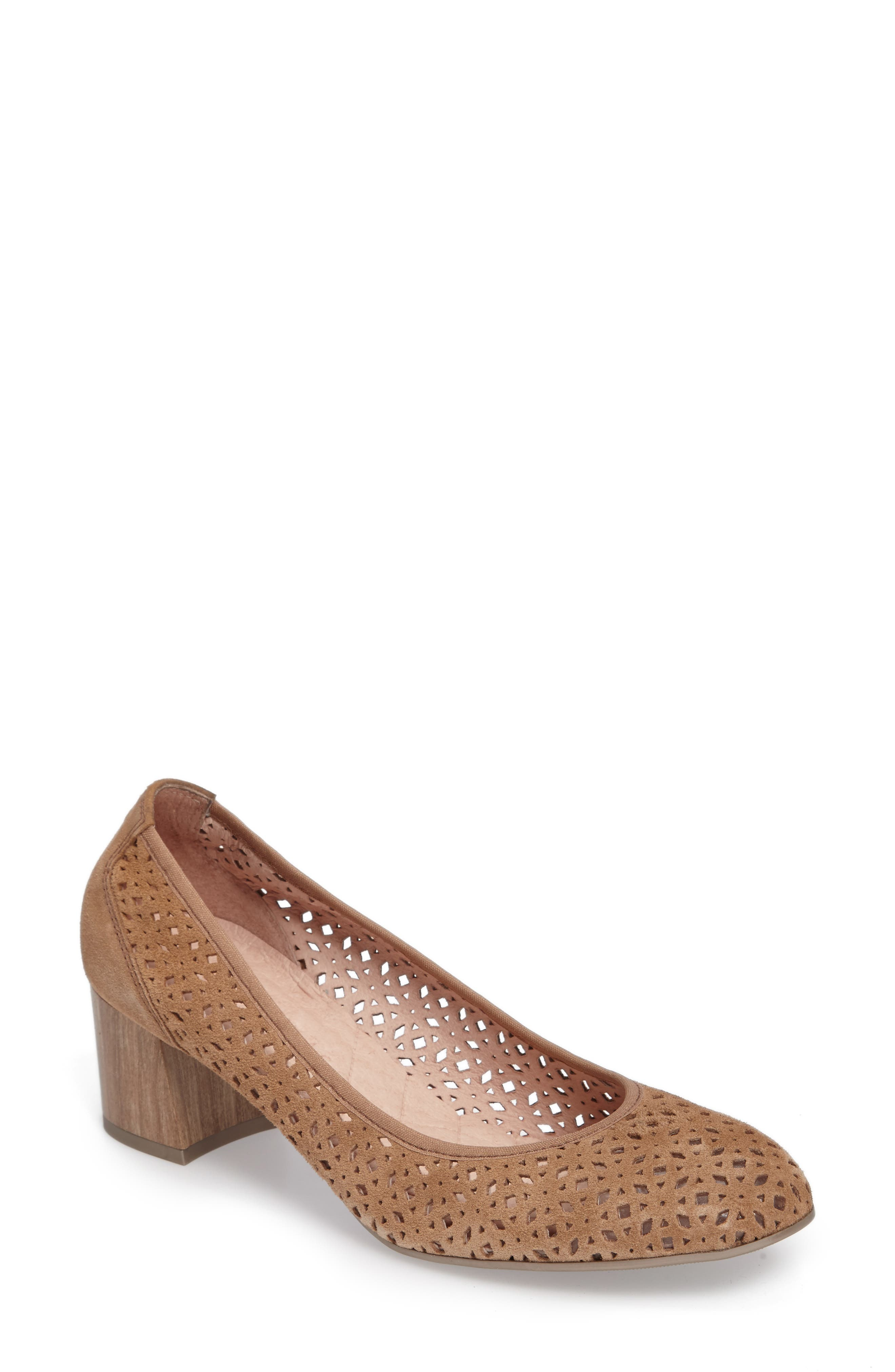 Jovanna Perforated Pump,                         Main,                         color, Velour Avena Leather