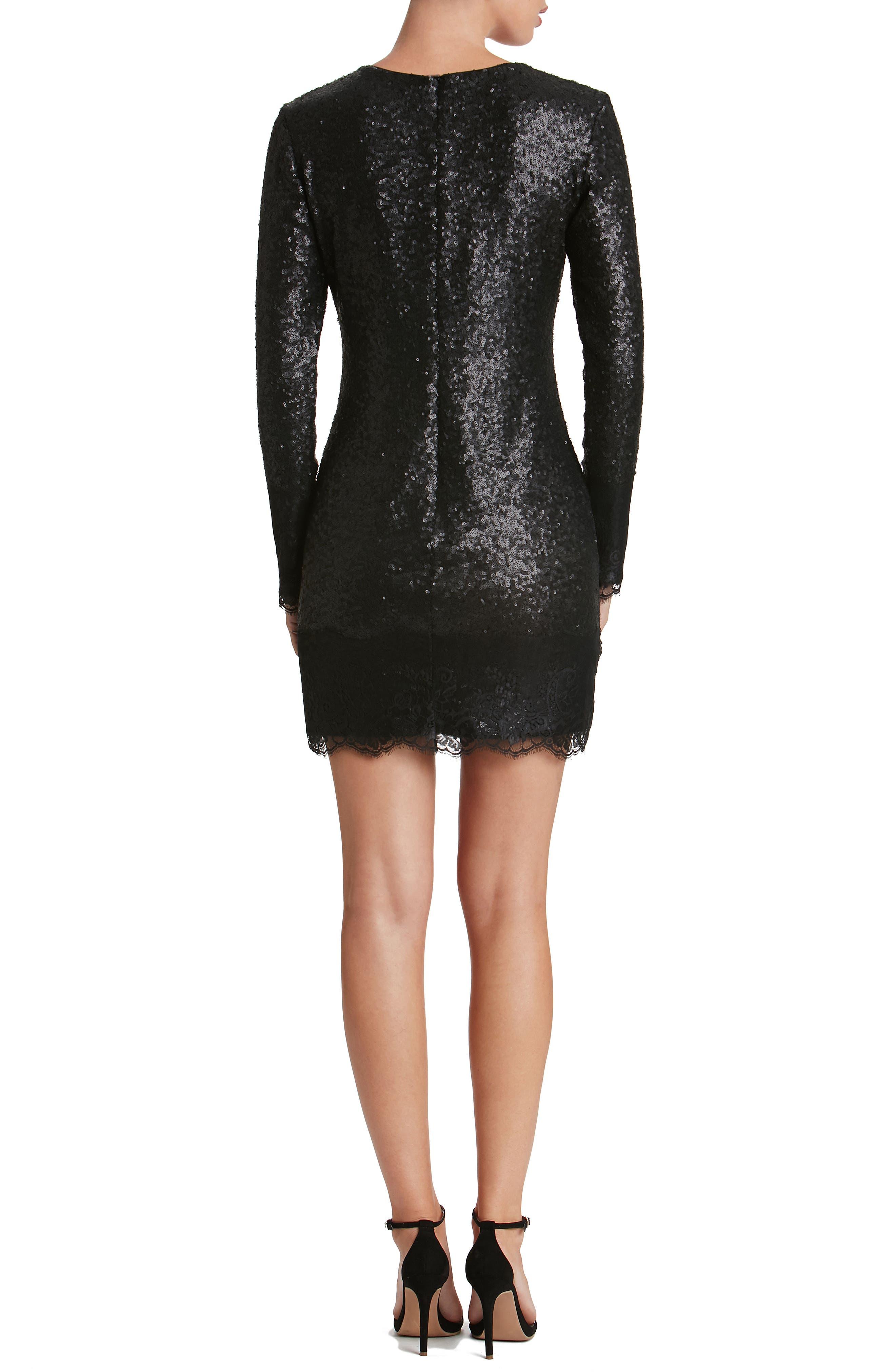 Alternate Image 2  - Dress the Population Kate Lace Trim Sequin Dress