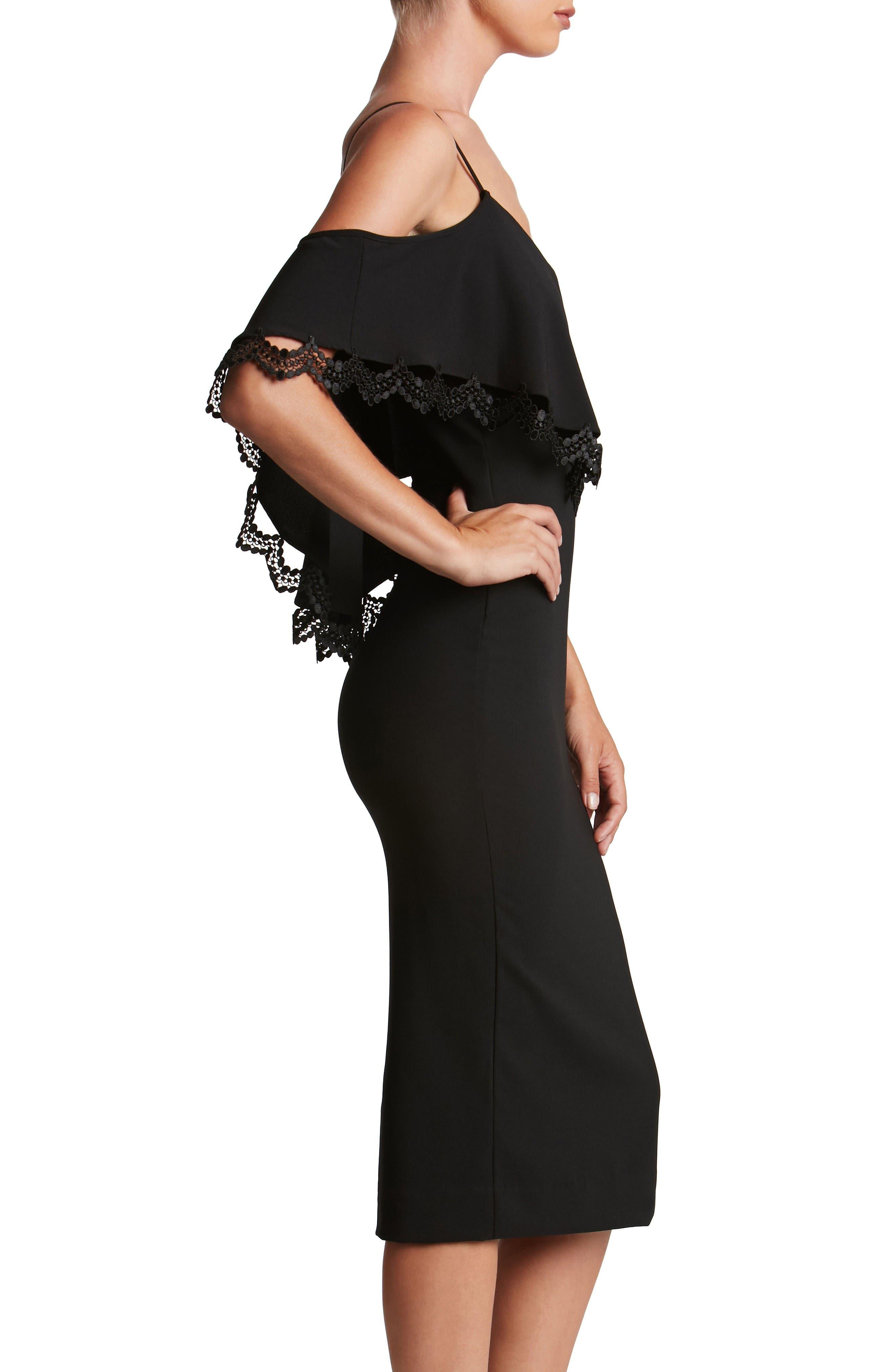 Alternate Image 3  - Dress the Population Beth Cold Shoulder Dress