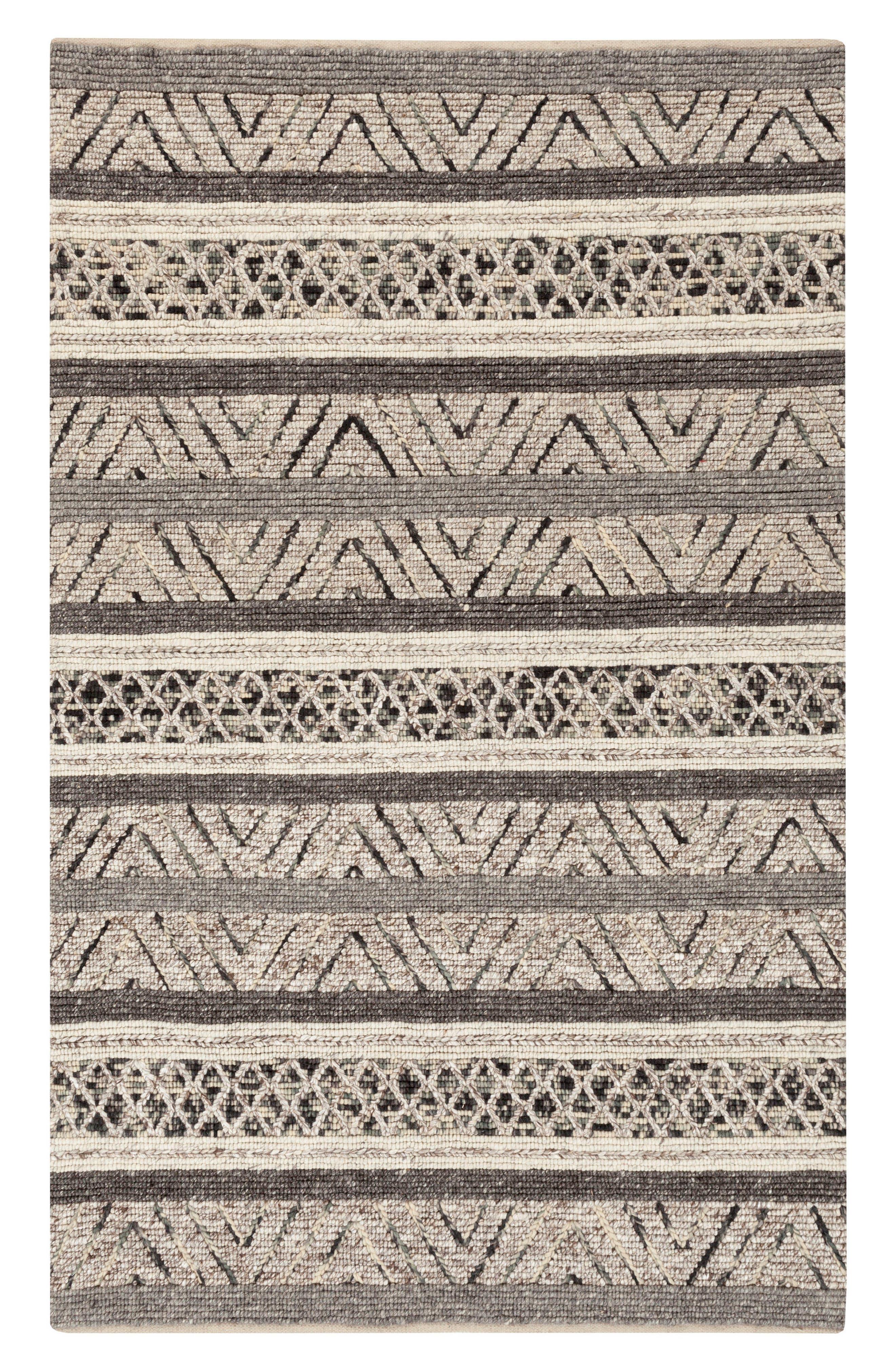 Nico Shag Wool Rug,                         Main,                         color, Charcoal