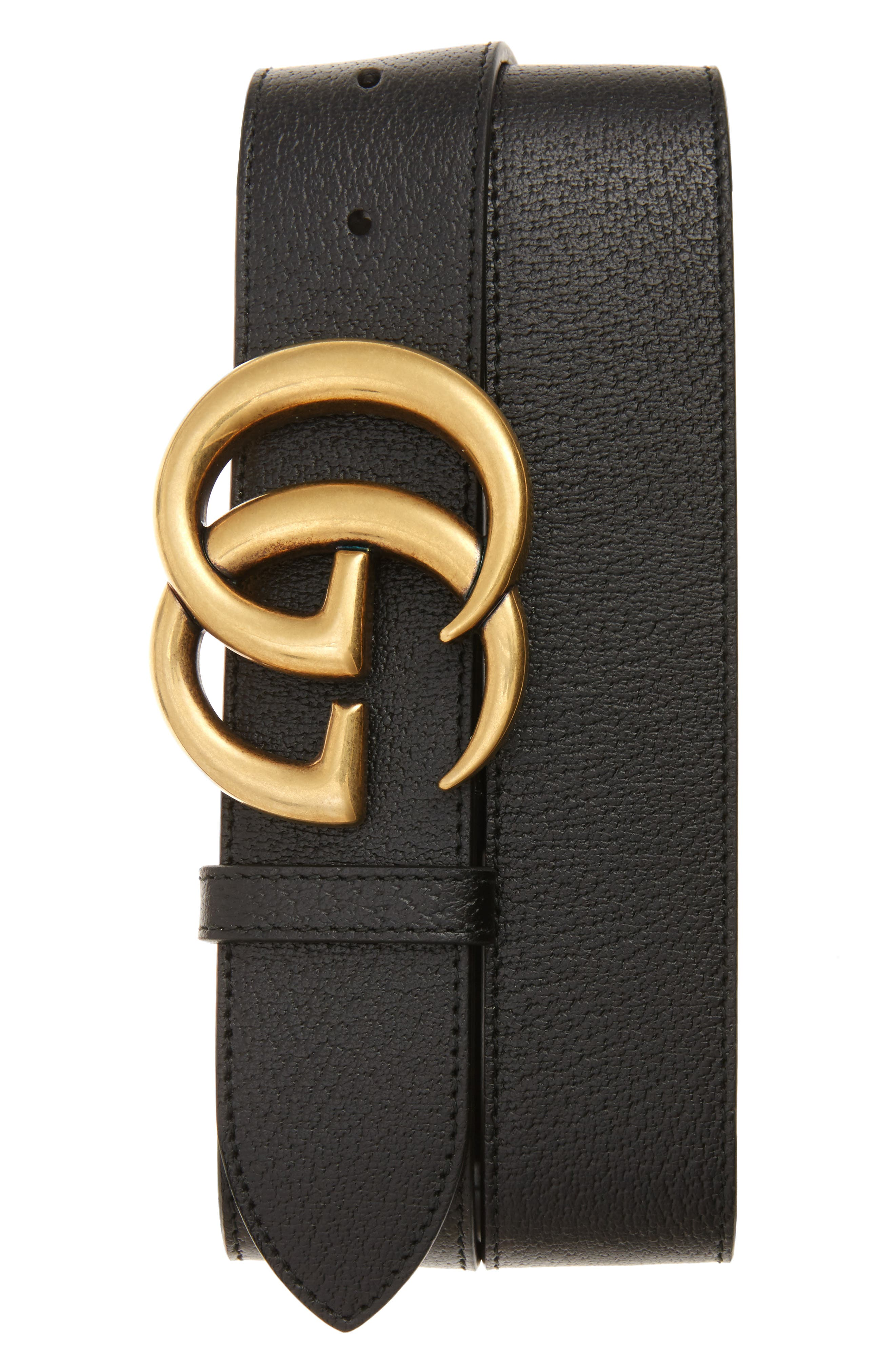 Gucci Marmont Logo Leather Belt